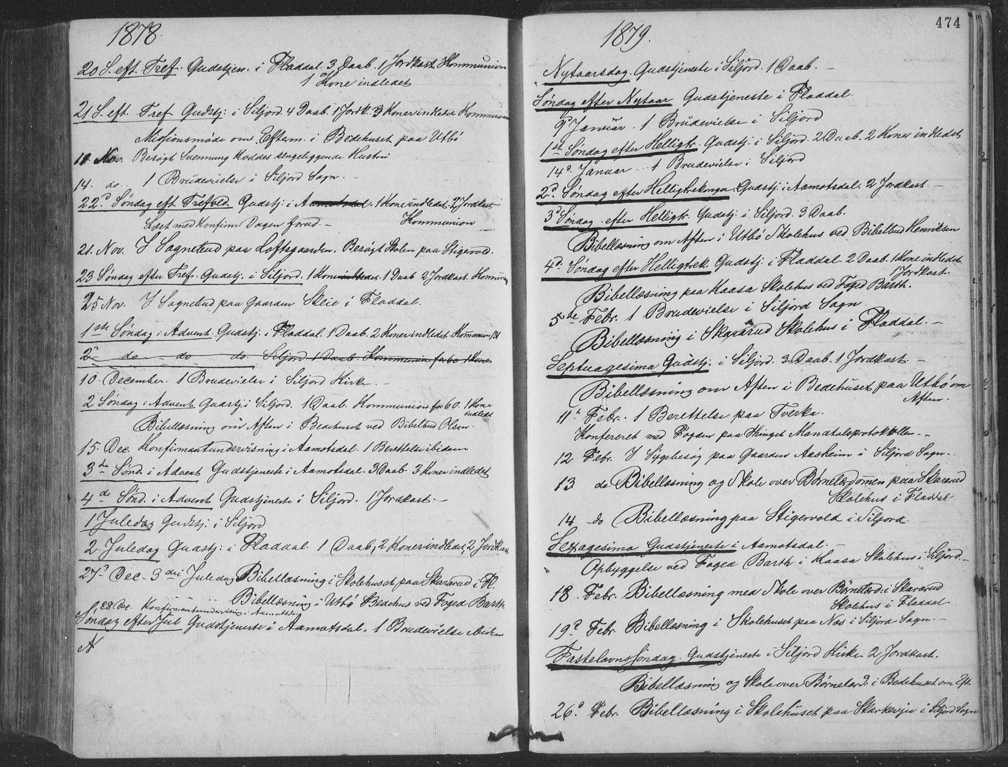 SAKO, Seljord kirkebøker, F/Fa/L0014: Ministerialbok nr. I 14, 1877-1886, s. 474