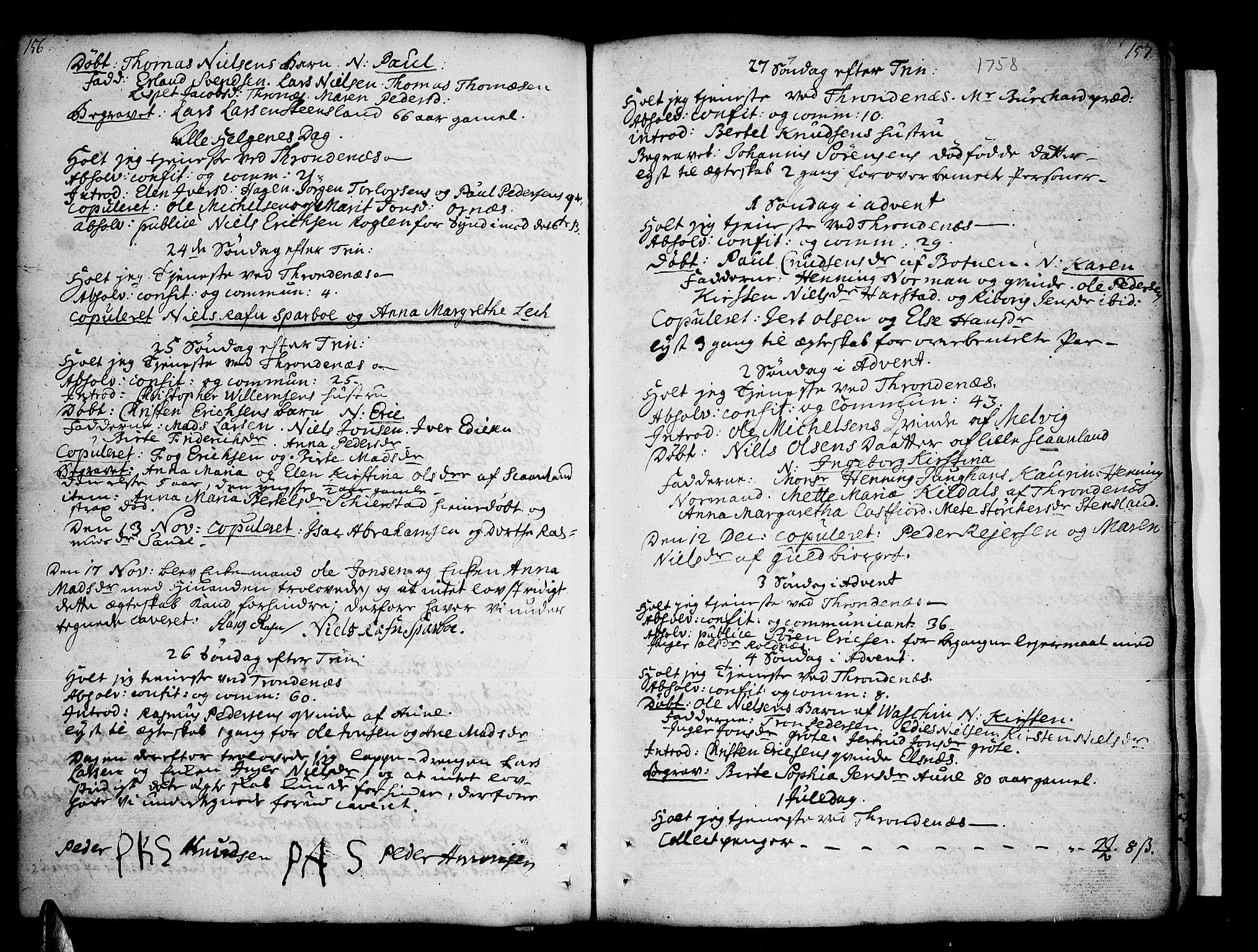 SATØ, Trondenes sokneprestkontor, H/Ha/L0002kirke: Ministerialbok nr. 2, 1751-1781, s. 156-157