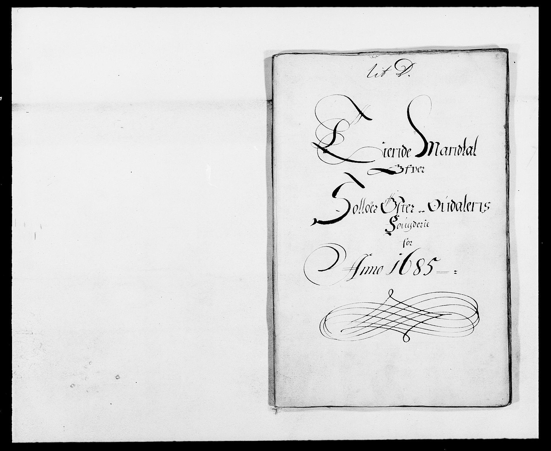 RA, Rentekammeret inntil 1814, Reviderte regnskaper, Fogderegnskap, R13/L0822: Fogderegnskap Solør, Odal og Østerdal, 1685, s. 162