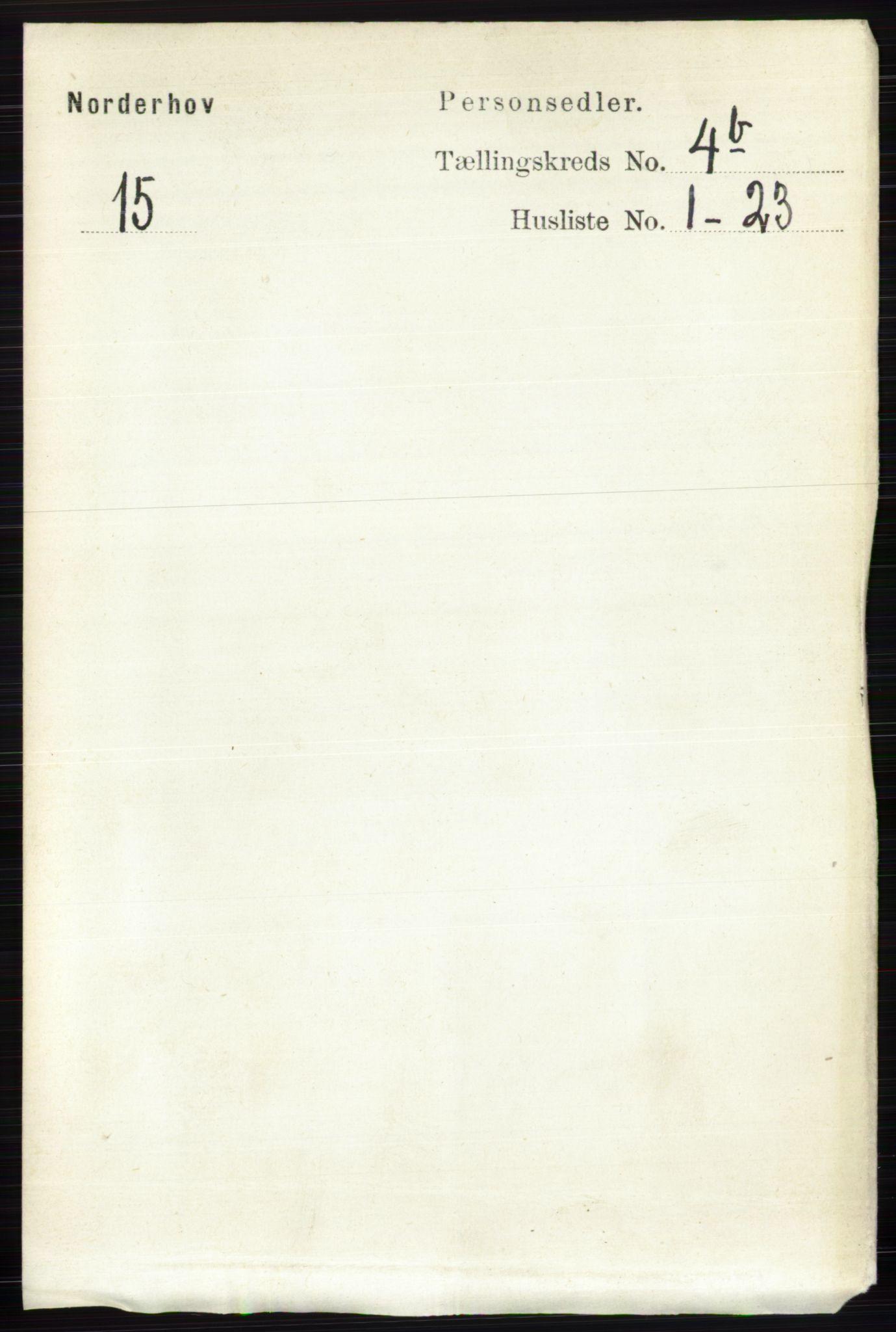 RA, Folketelling 1891 for 0613 Norderhov herred, 1891, s. 1999
