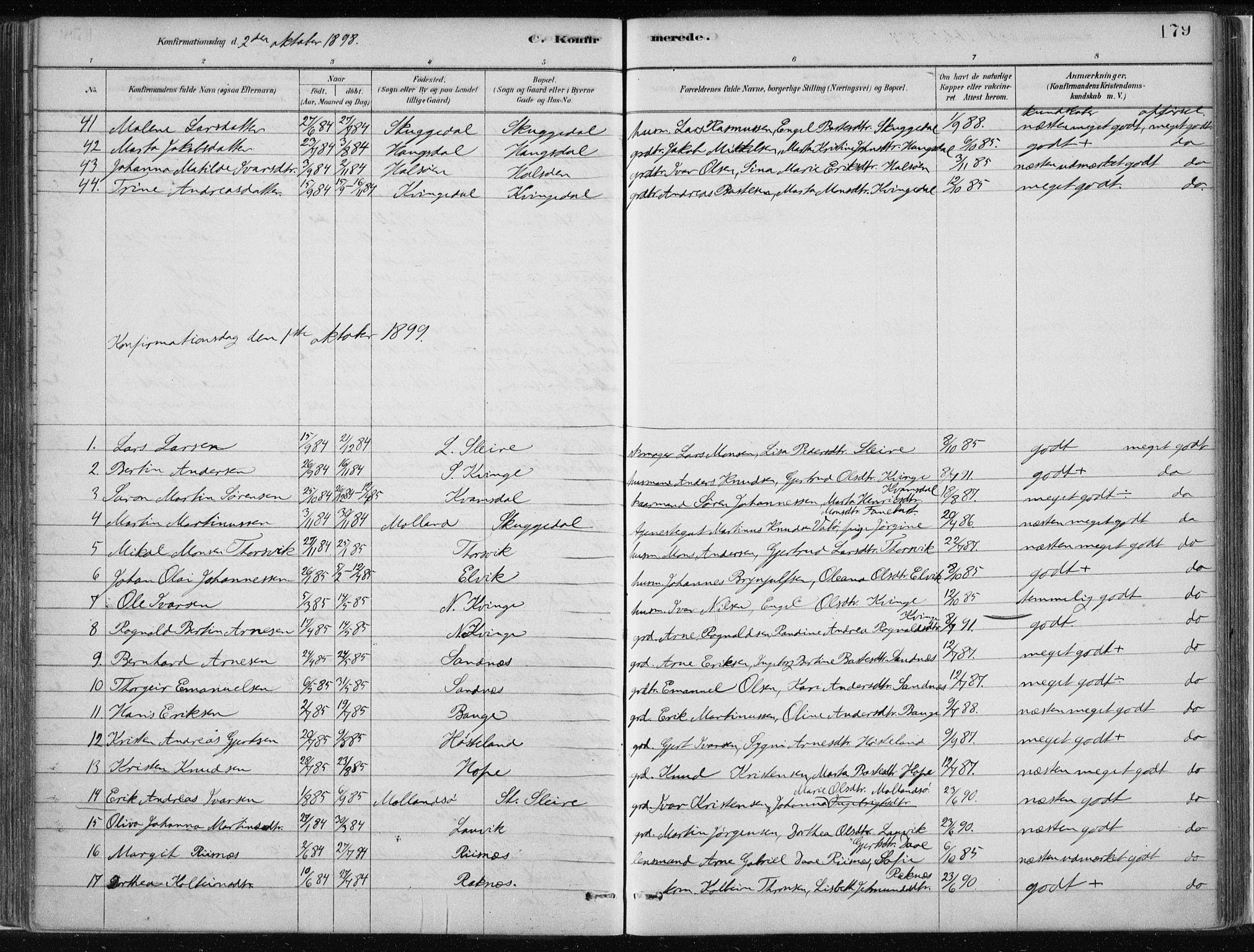 SAB, Masfjorden Soknepresembete, Ministerialbok nr. B  1, 1876-1899, s. 179
