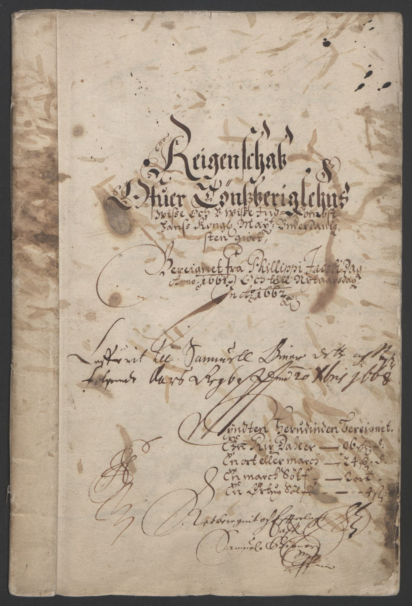 RA, Rentekammeret inntil 1814, Reviderte regnskaper, Fogderegnskap, R32/L1838: Fogderegnskap Jarlsberg grevskap, 1661-1663, s. 3