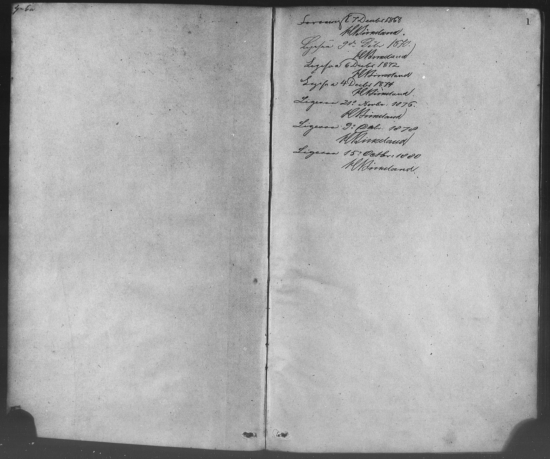 SAB, Korskirken Sokneprestembete, H/Haa/L0028: Ministerialbok nr. C 4, 1868-1879, s. 1