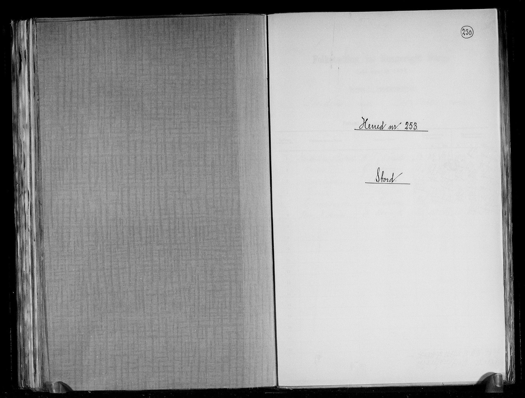 RA, Folketelling 1891 for 1221 Stord herred, 1891, s. 1