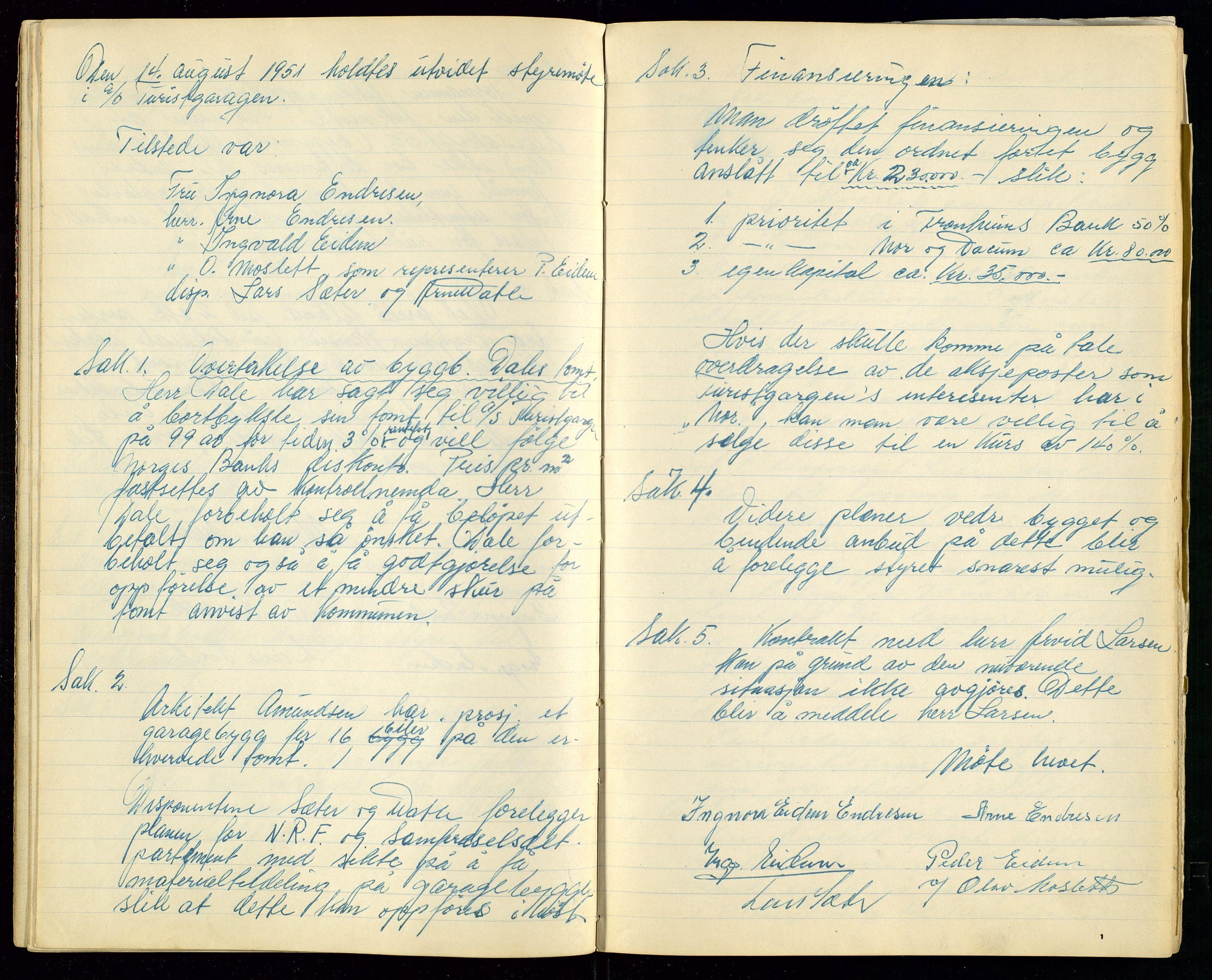 SAST, PA 1515 - Turistgarasjen A/S, A/L0001: Forhandlingsprotokoll, 1937-1958, s. 19