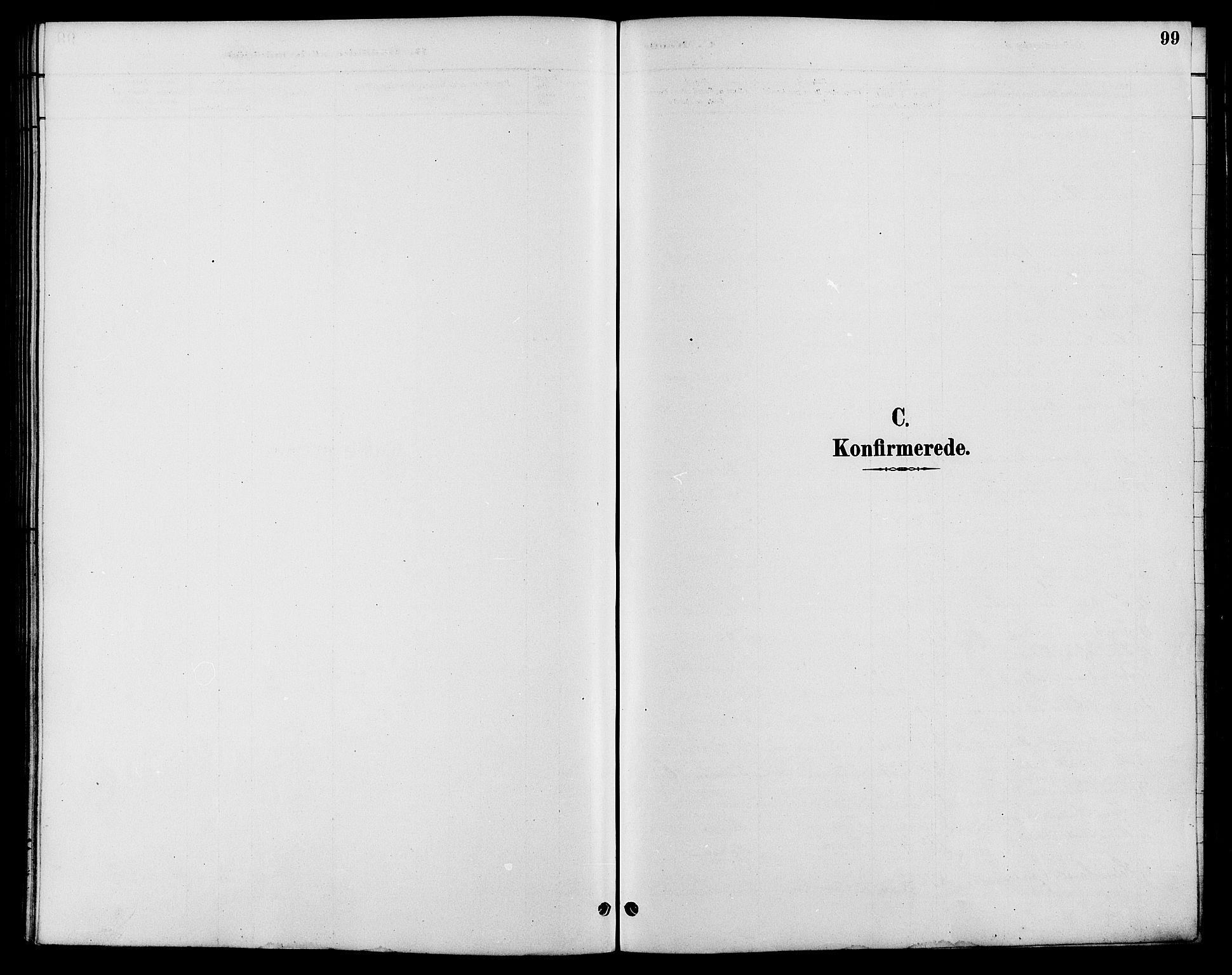 SAH, Nord-Fron prestekontor, Klokkerbok nr. 6, 1887-1914, s. 99