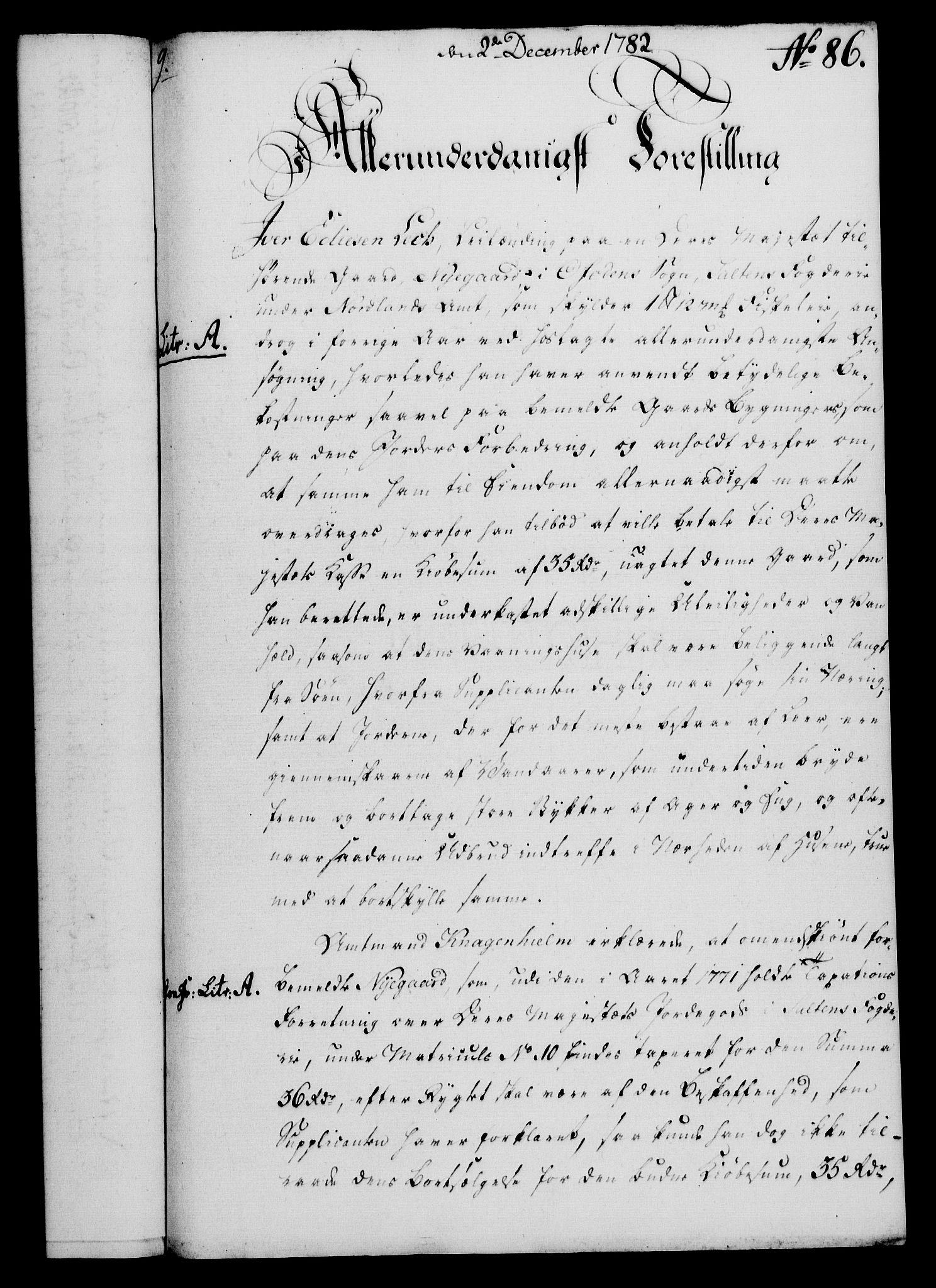 RA, Rentekammeret, Kammerkanselliet, G/Gf/Gfa/L0064: Norsk relasjons- og resolusjonsprotokoll (merket RK 52.64), 1782, s. 651