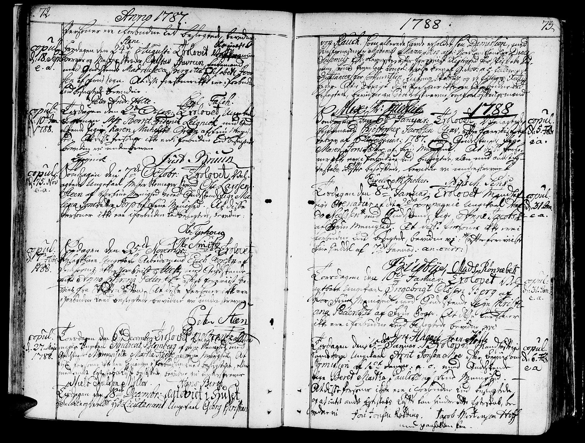 SAT, Ministerialprotokoller, klokkerbøker og fødselsregistre - Sør-Trøndelag, 602/L0105: Ministerialbok nr. 602A03, 1774-1814, s. 72-73
