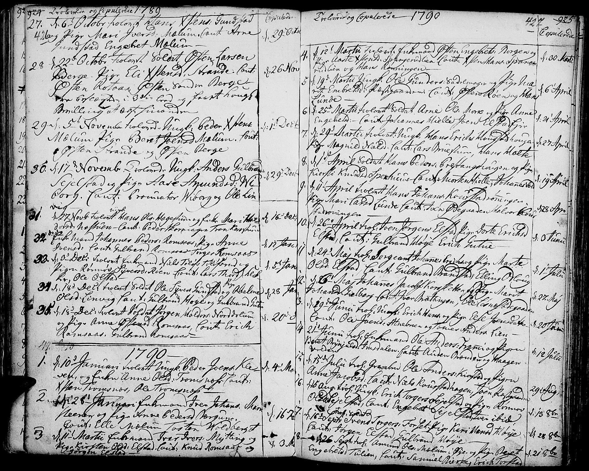 SAH, Ringebu prestekontor, Ministerialbok nr. 3, 1781-1820, s. 426-427