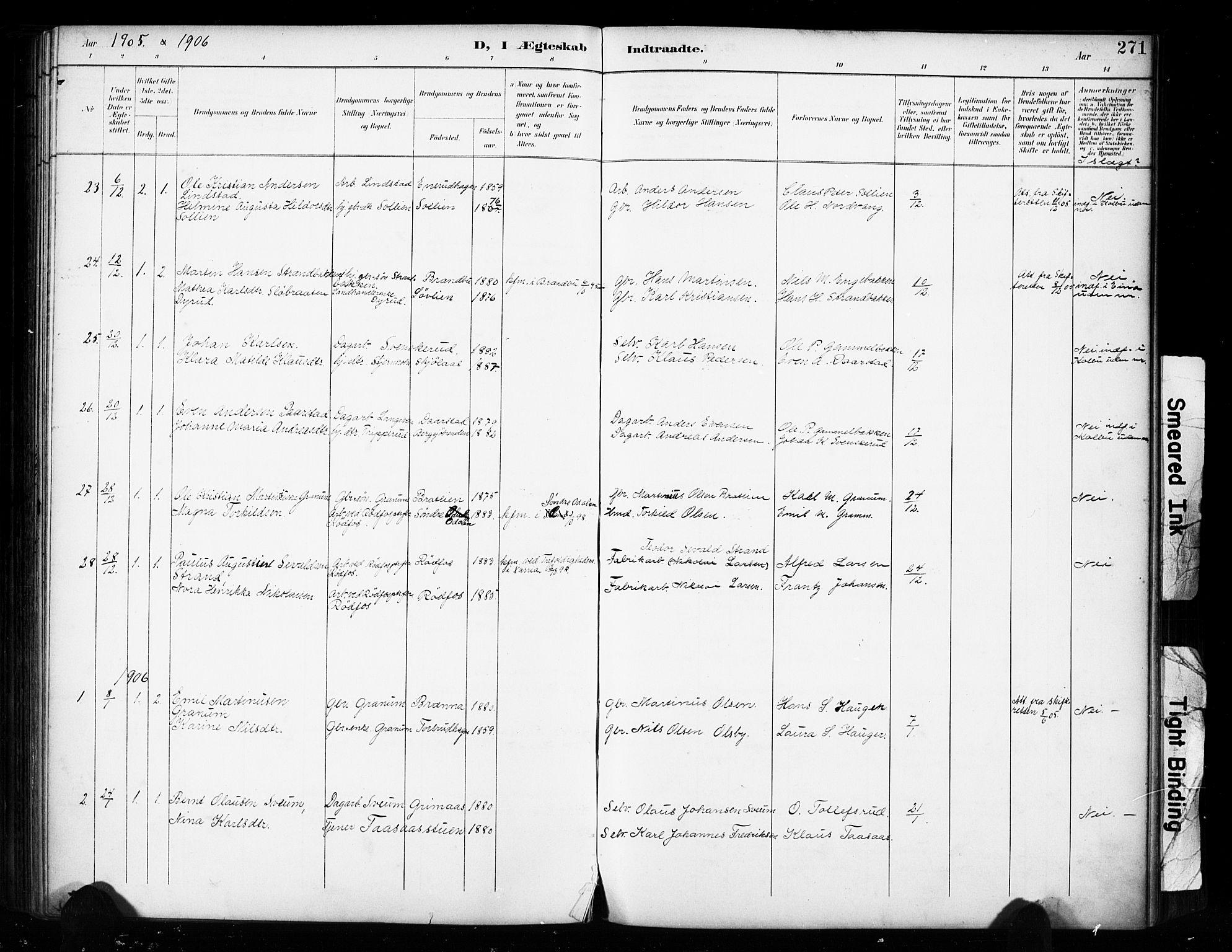 SAH, Vestre Toten prestekontor, Ministerialbok nr. 11, 1895-1906, s. 271