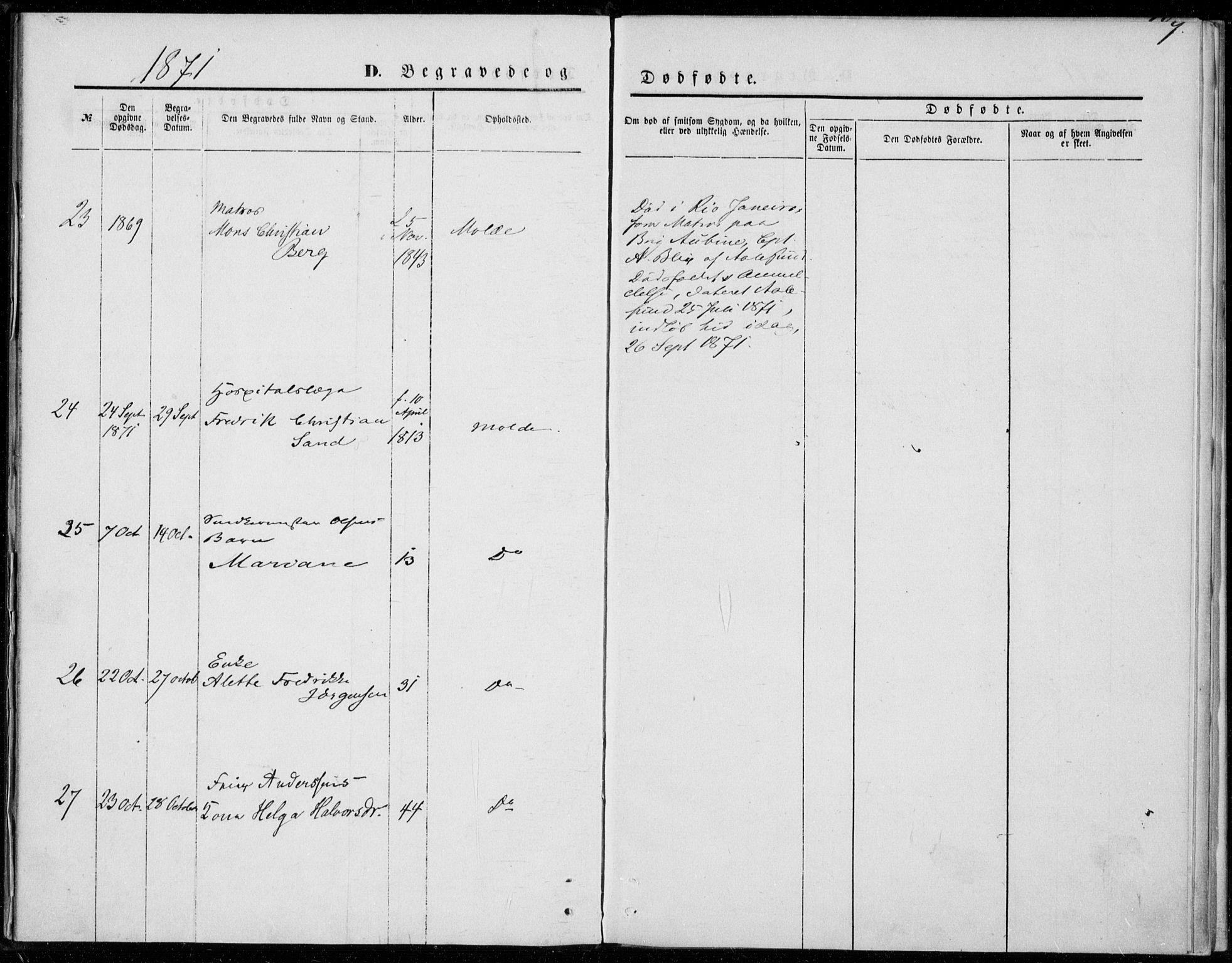 SAT, Ministerialprotokoller, klokkerbøker og fødselsregistre - Møre og Romsdal, 558/L0690: Ministerialbok nr. 558A04, 1864-1872, s. 9