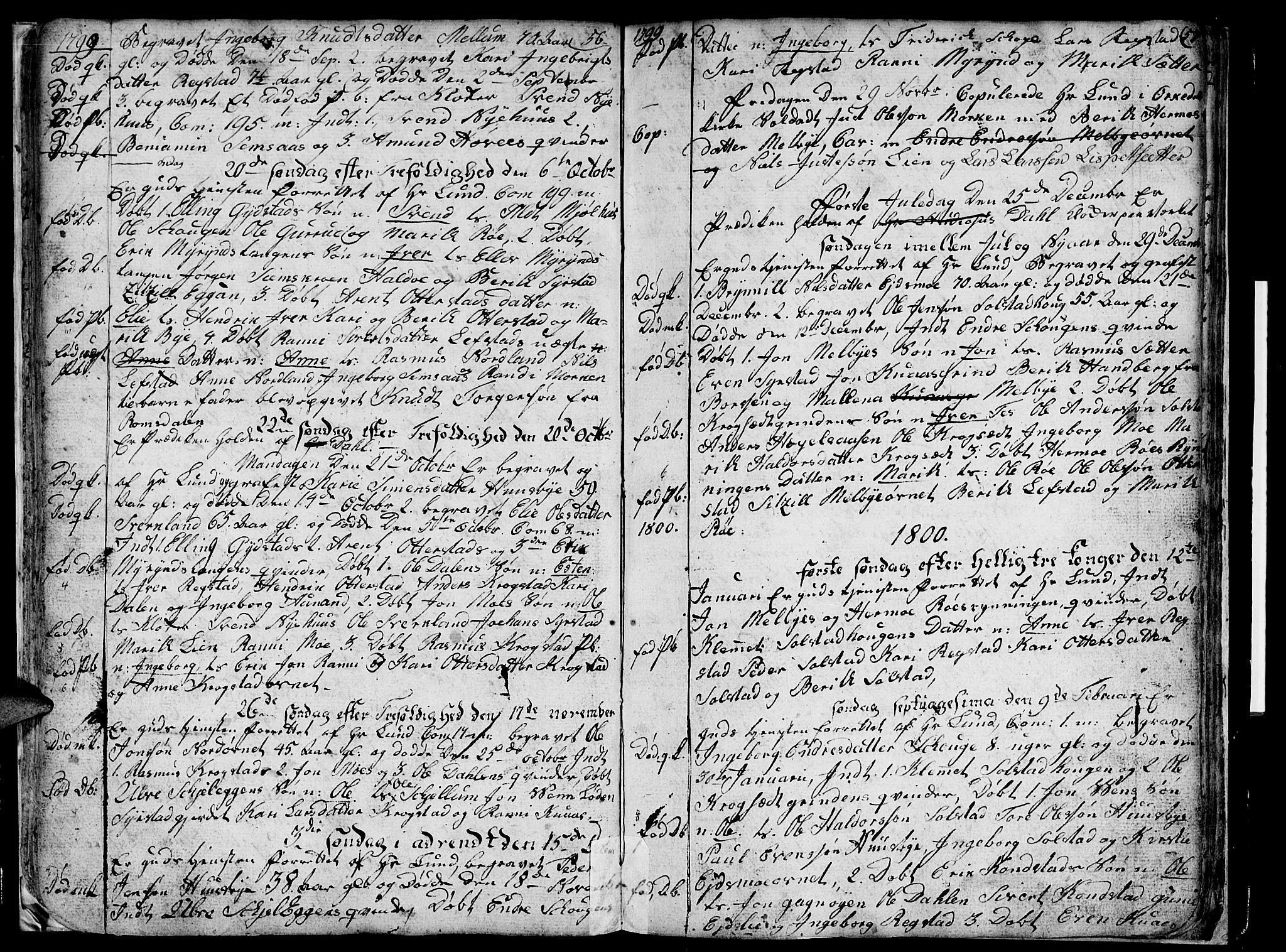 SAT, Ministerialprotokoller, klokkerbøker og fødselsregistre - Sør-Trøndelag, 667/L0794: Ministerialbok nr. 667A02, 1791-1816, s. 56-57