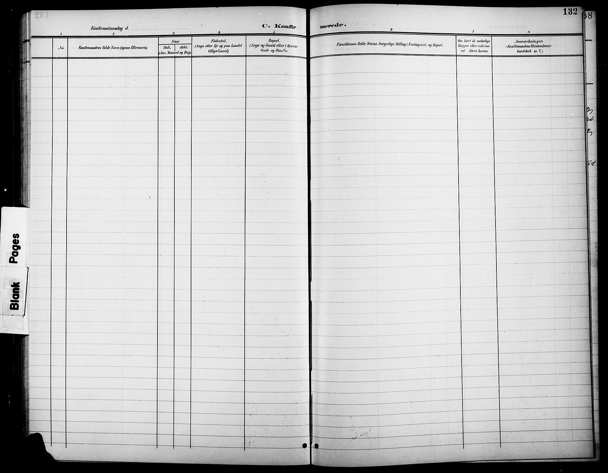 SAH, Søndre Land prestekontor, L/L0004: Klokkerbok nr. 4, 1901-1915, s. 132