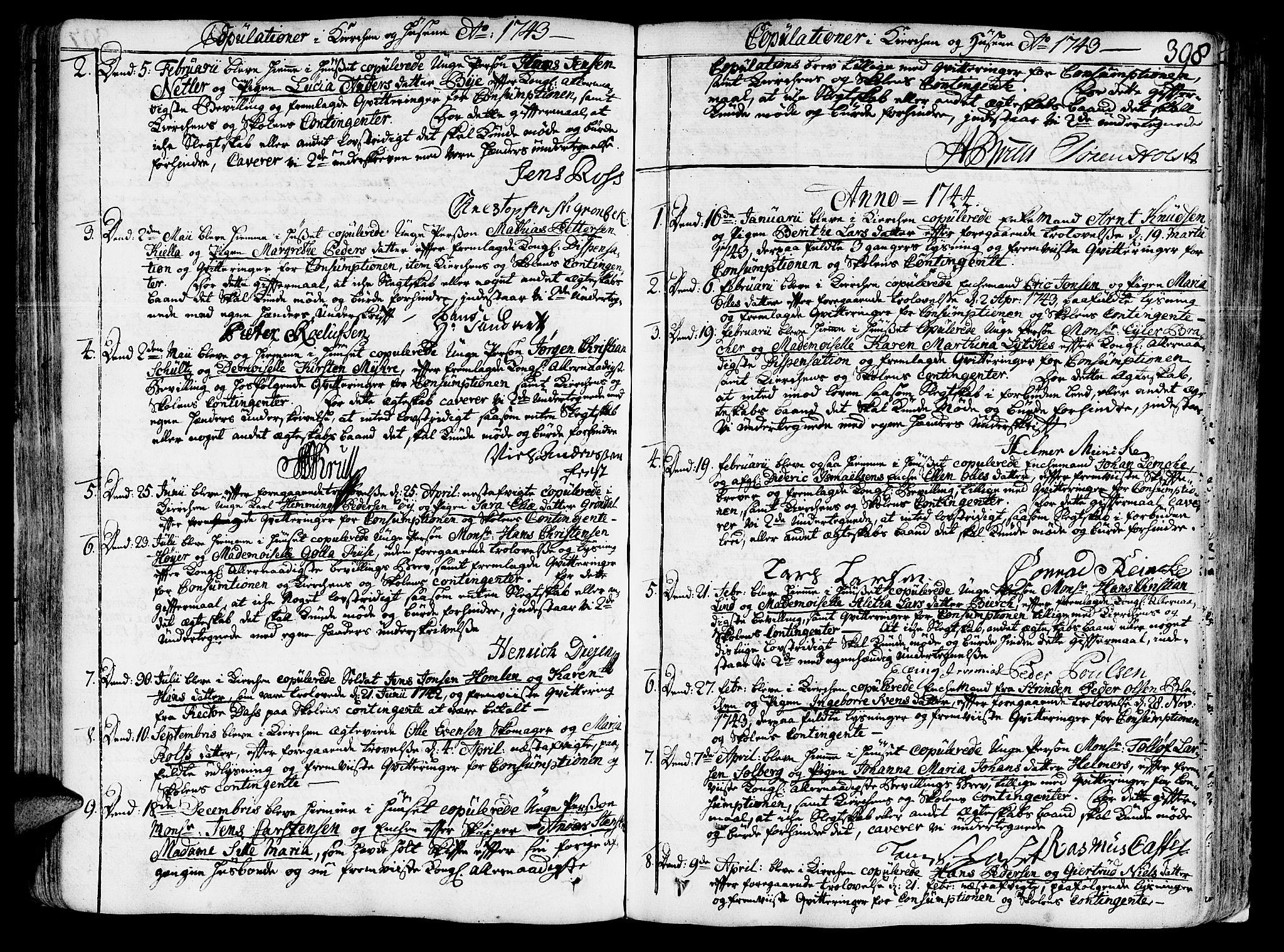 SAT, Ministerialprotokoller, klokkerbøker og fødselsregistre - Sør-Trøndelag, 602/L0103: Ministerialbok nr. 602A01, 1732-1774, s. 398