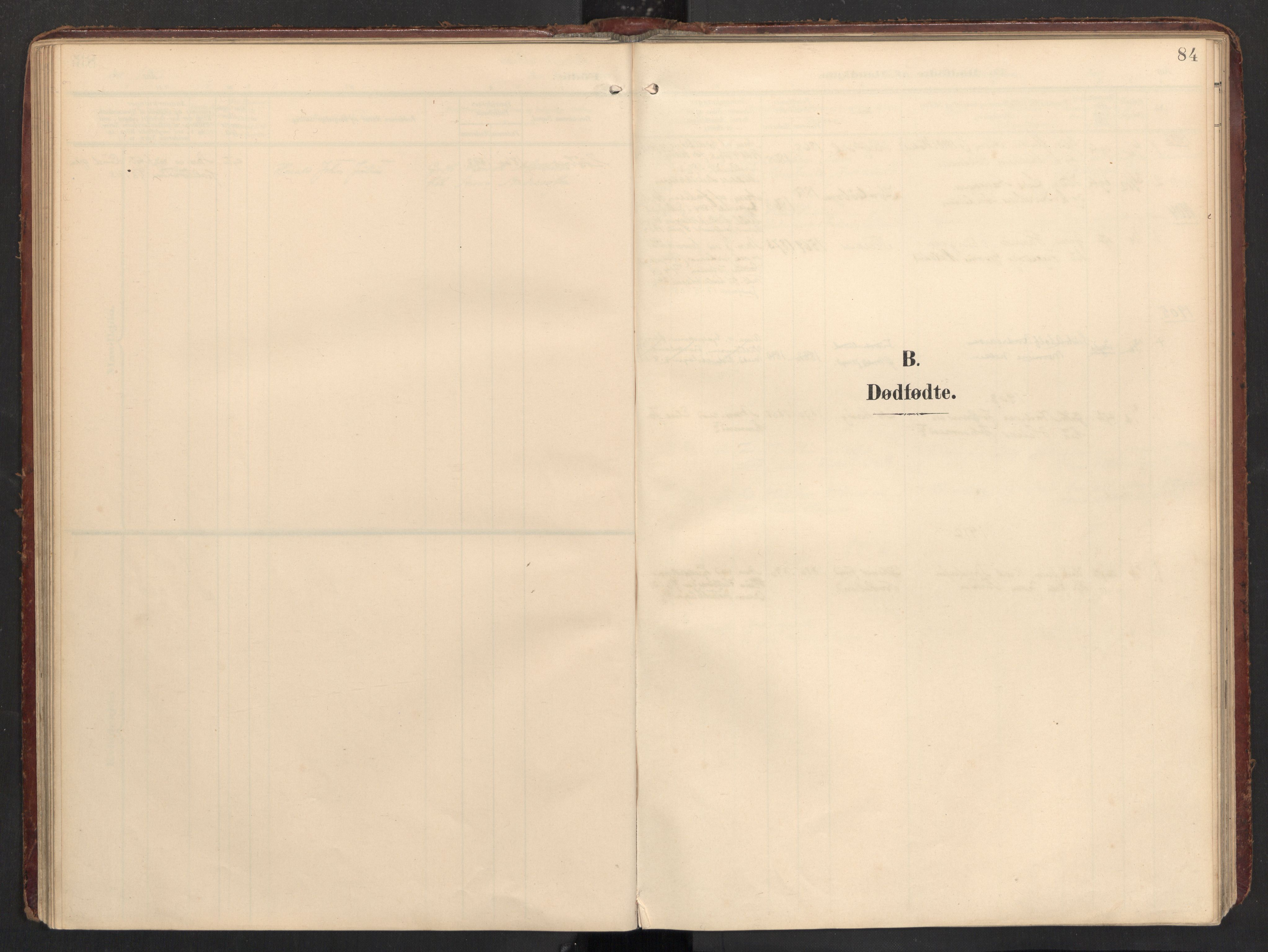 SAT, Ministerialprotokoller, klokkerbøker og fødselsregistre - Nordland, 890/L1287: Ministerialbok nr. 890A02, 1903-1915, s. 84