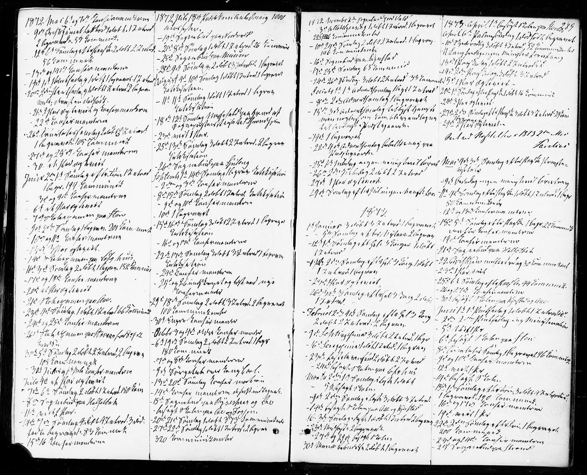 SAT, Ministerialprotokoller, klokkerbøker og fødselsregistre - Sør-Trøndelag, 672/L0856: Ministerialbok nr. 672A08, 1861-1881, s. 289
