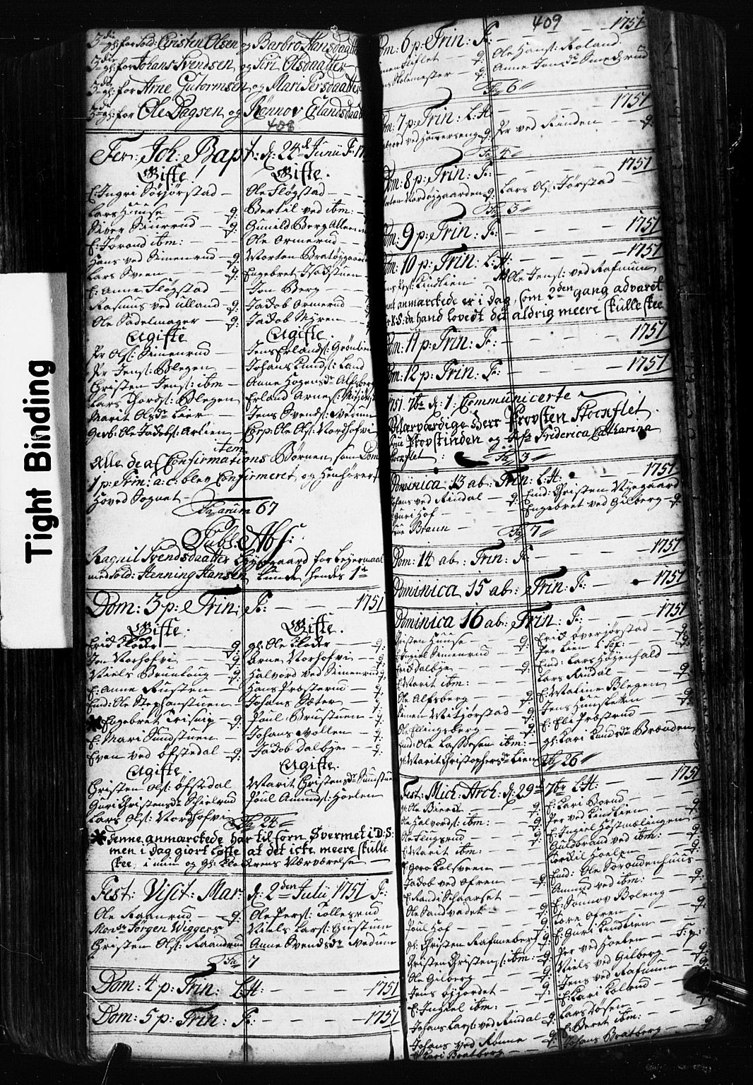SAH, Fåberg prestekontor, Klokkerbok nr. 2, 1741-1756, s. 408-409