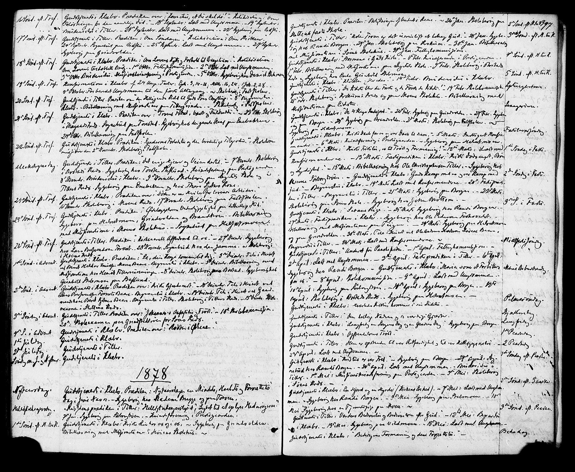 SAT, Ministerialprotokoller, klokkerbøker og fødselsregistre - Sør-Trøndelag, 618/L0442: Ministerialbok nr. 618A06 /1, 1863-1879, s. 397