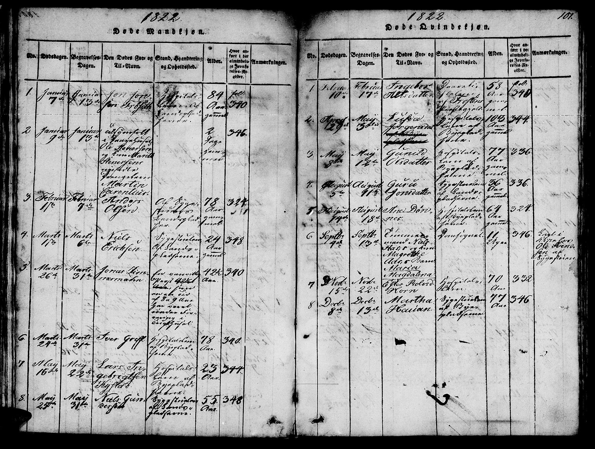 SAT, Ministerialprotokoller, klokkerbøker og fødselsregistre - Sør-Trøndelag, 623/L0478: Klokkerbok nr. 623C01, 1815-1873, s. 101