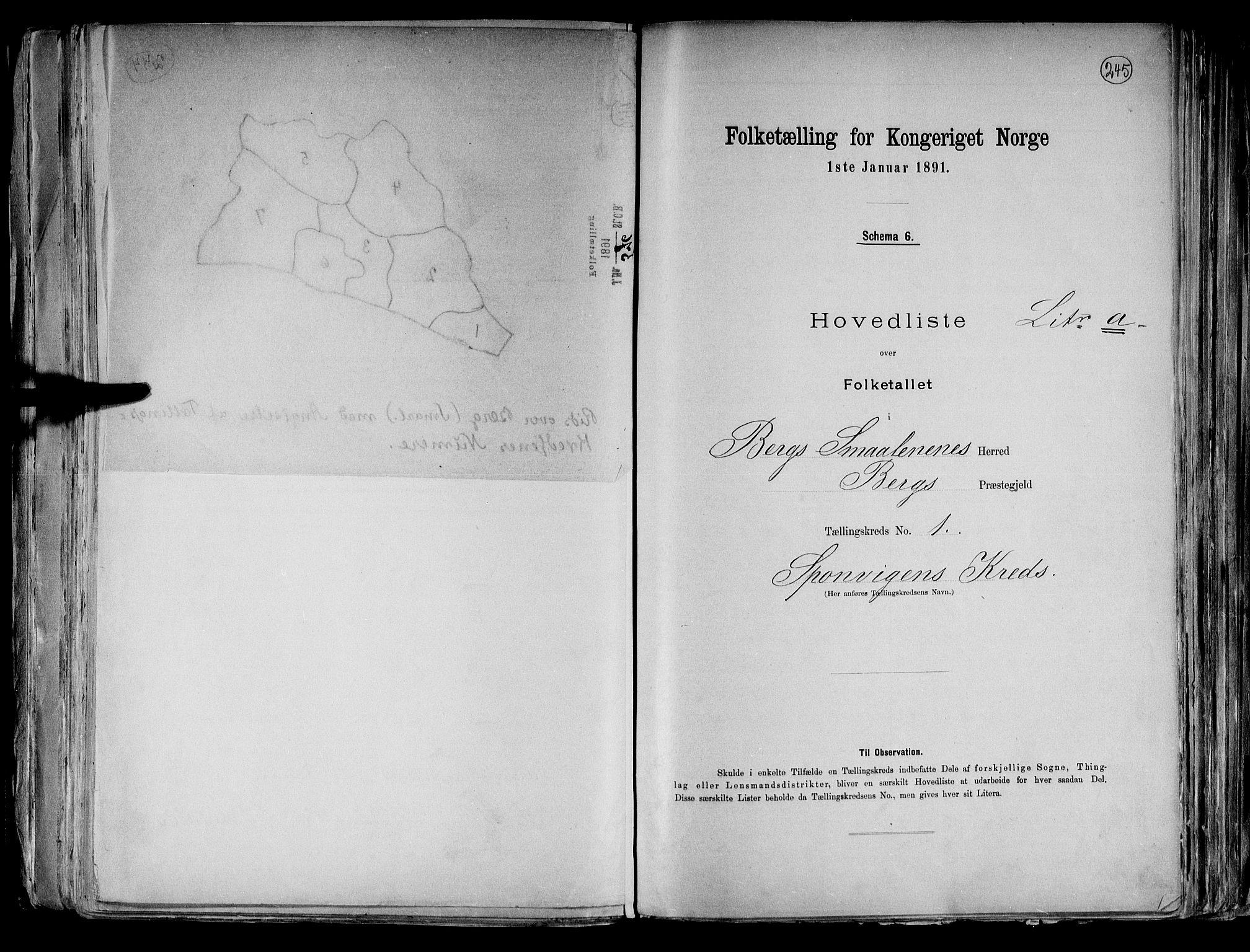 RA, Folketelling 1891 for 0116 Berg herred, 1891, s. 5