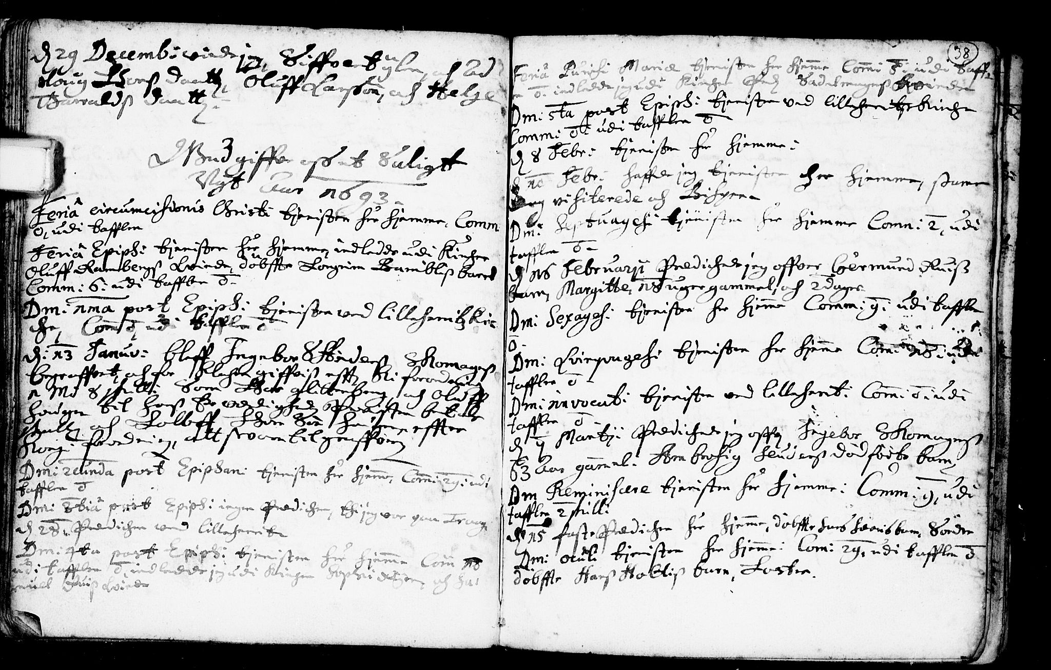 SAKO, Heddal kirkebøker, F/Fa/L0001: Ministerialbok nr. I 1, 1648-1699, s. 38