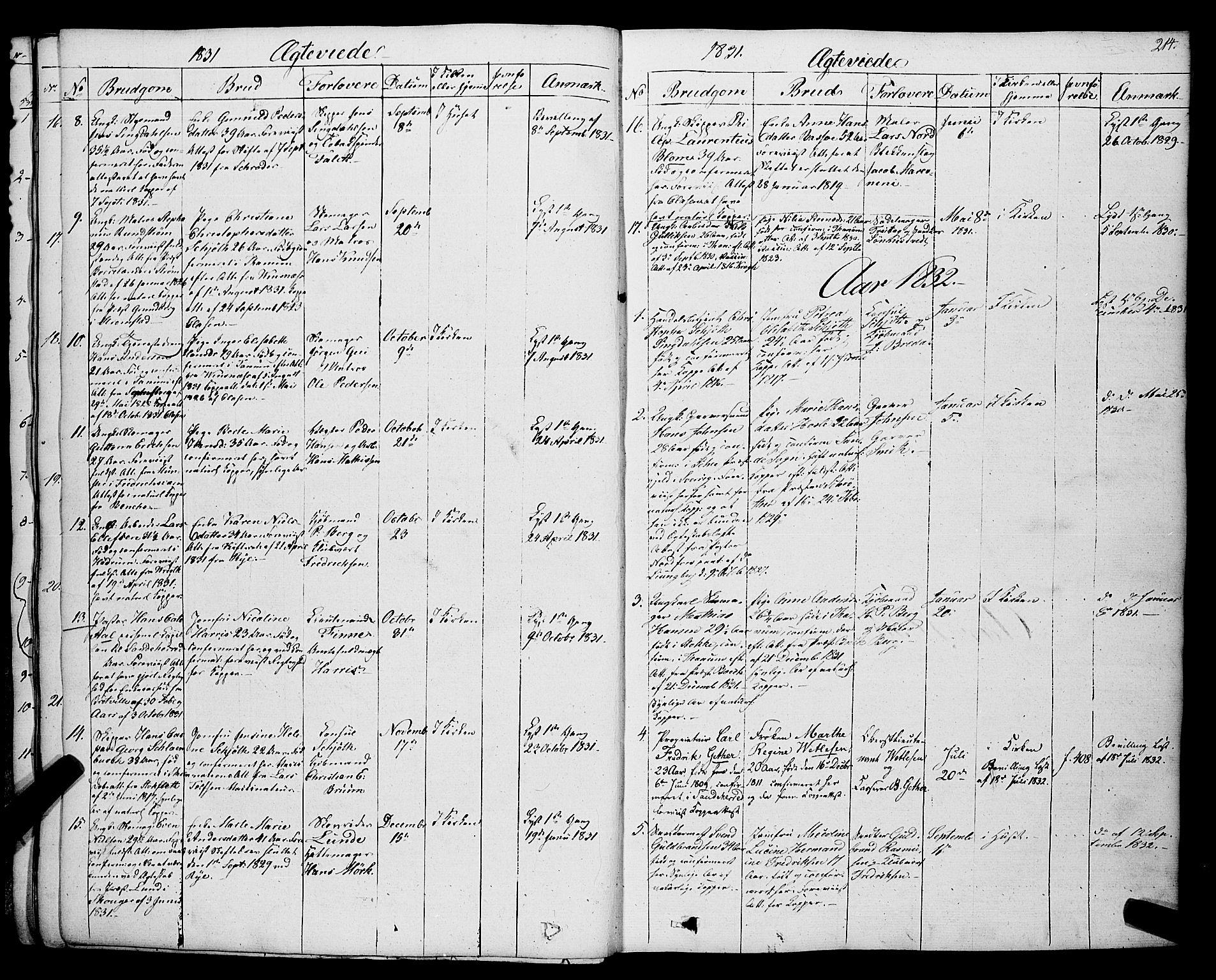 SAKO, Larvik kirkebøker, F/Fa/L0002: Ministerialbok nr. I 2, 1825-1847, s. 214