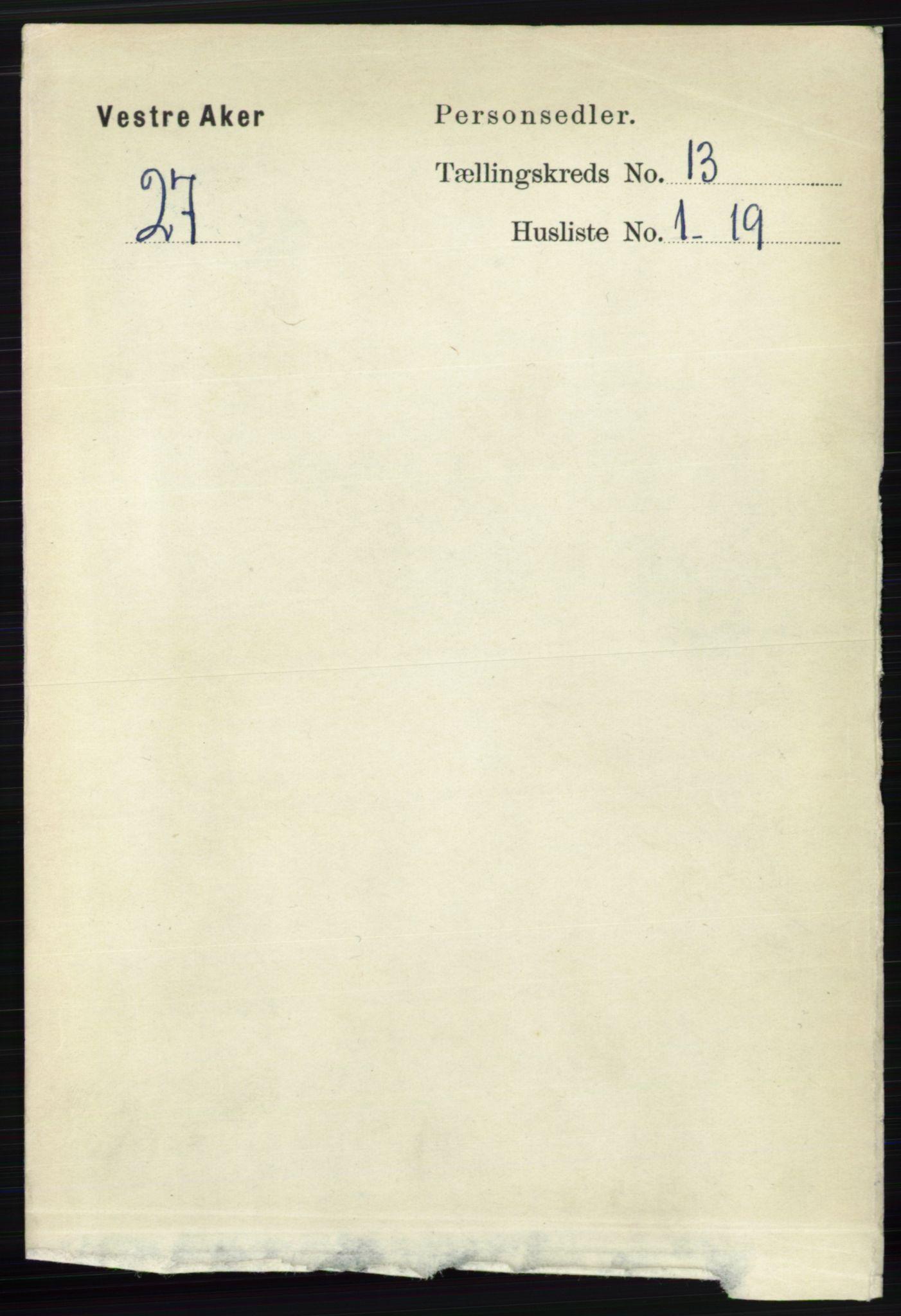 RA, Folketelling 1891 for 0218 Aker herred, 1891, s. 12109