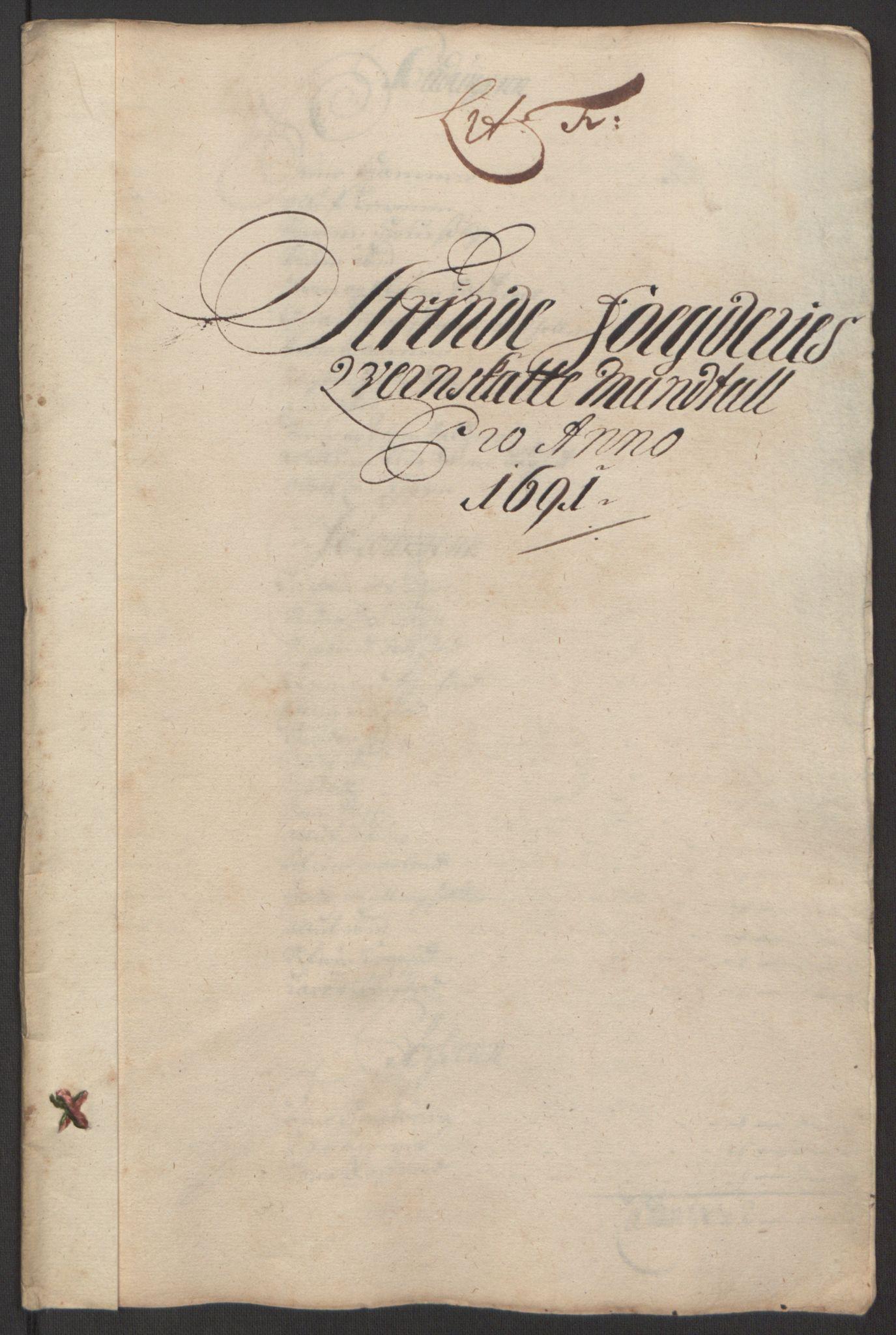 RA, Rentekammeret inntil 1814, Reviderte regnskaper, Fogderegnskap, R61/L4103: Fogderegnskap Strinda og Selbu, 1691-1692, s. 67