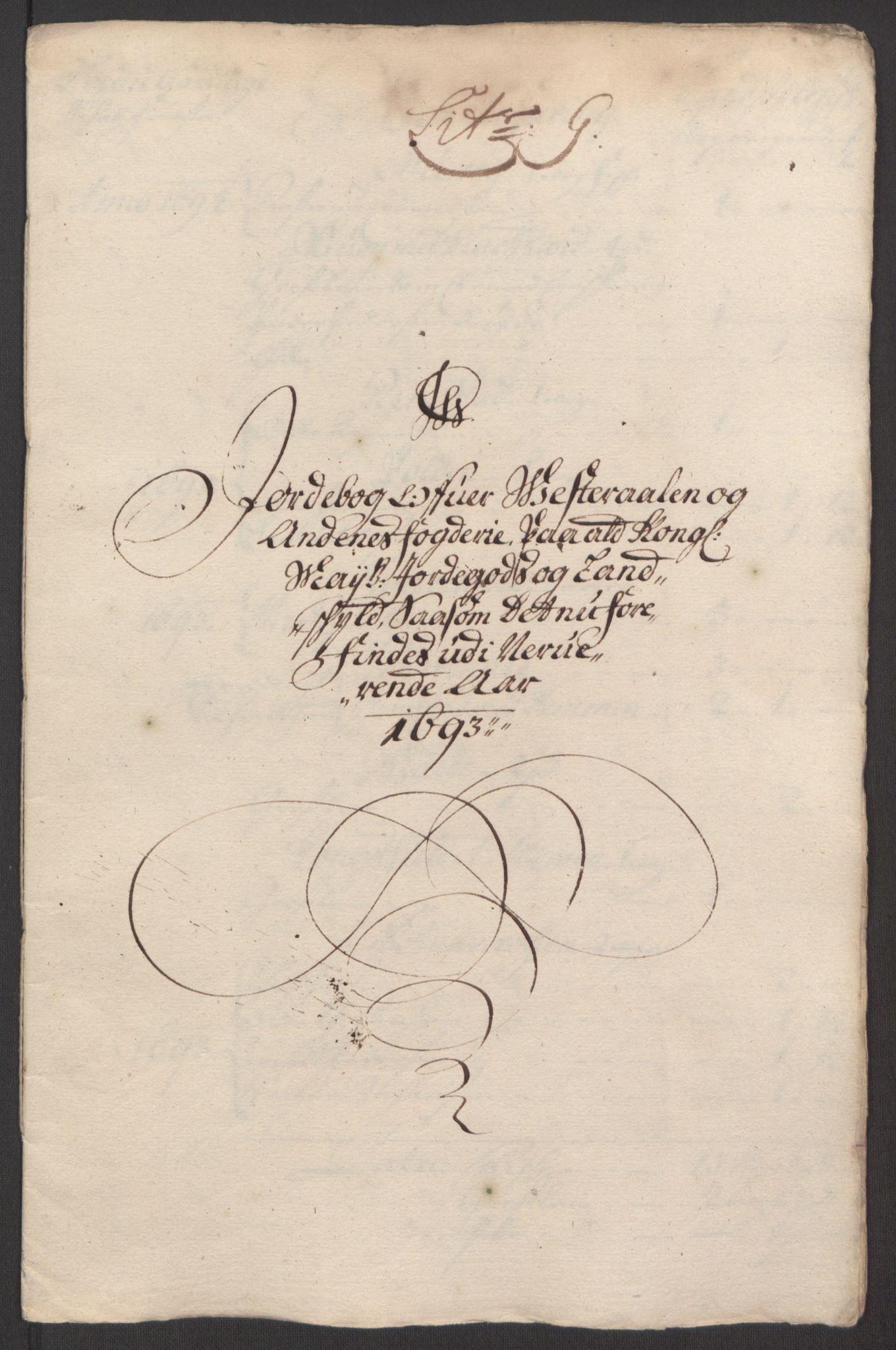 RA, Rentekammeret inntil 1814, Reviderte regnskaper, Fogderegnskap, R67/L4676: Fogderegnskap Vesterålen, Andenes og Lofoten, 1691-1693, s. 291