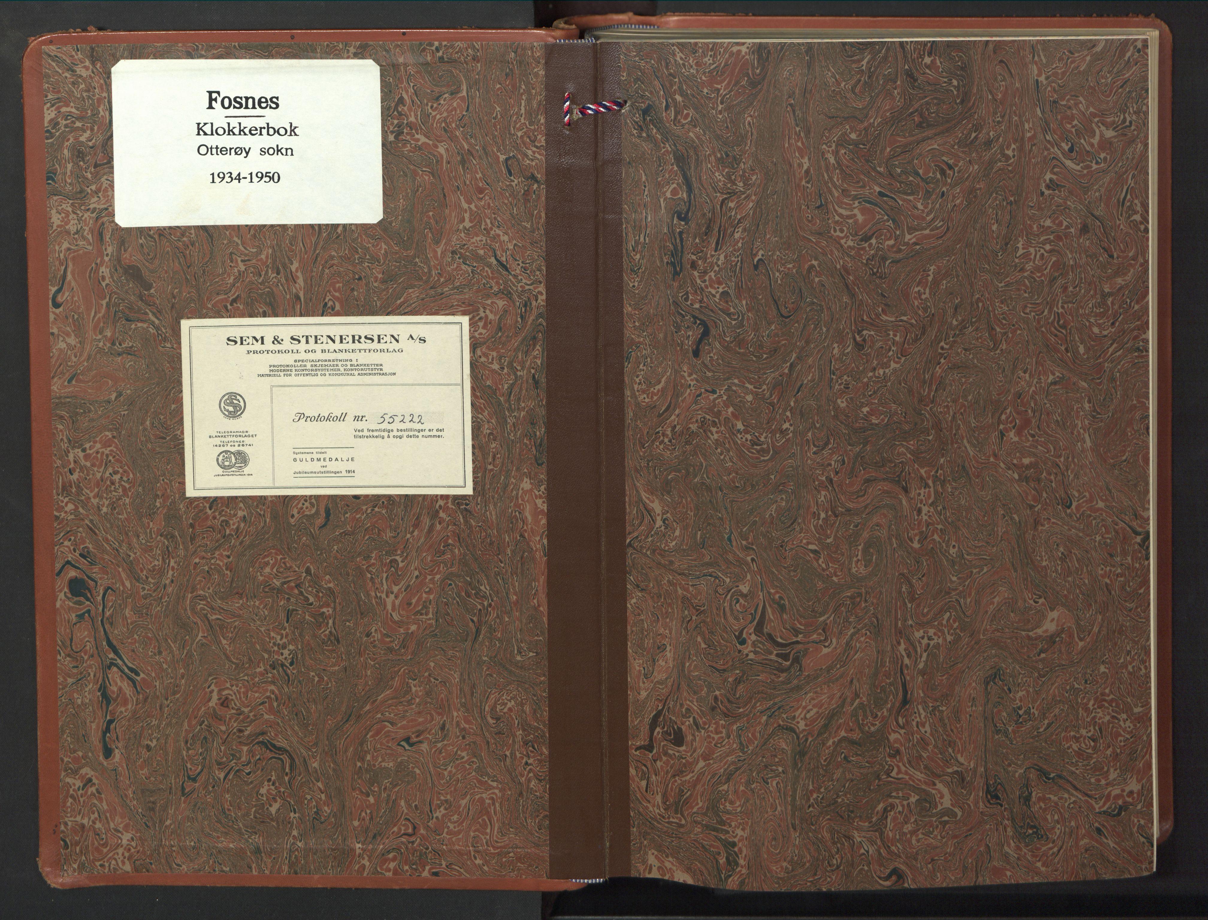 SAT, Ministerialprotokoller, klokkerbøker og fødselsregistre - Nord-Trøndelag, 774/L0631: Klokkerbok nr. 774C02, 1934-1950