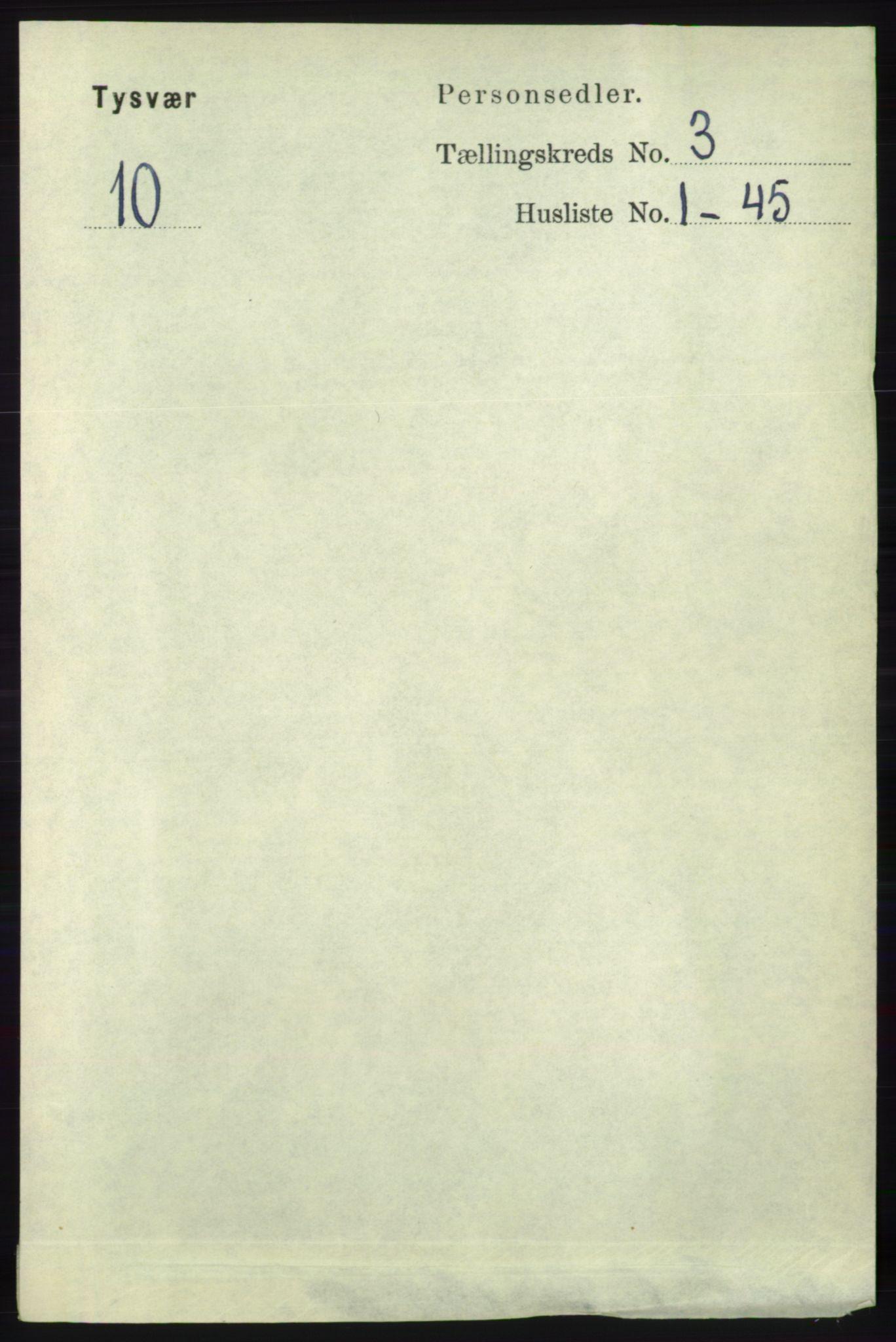 RA, Folketelling 1891 for 1146 Tysvær herred, 1891, s. 1229