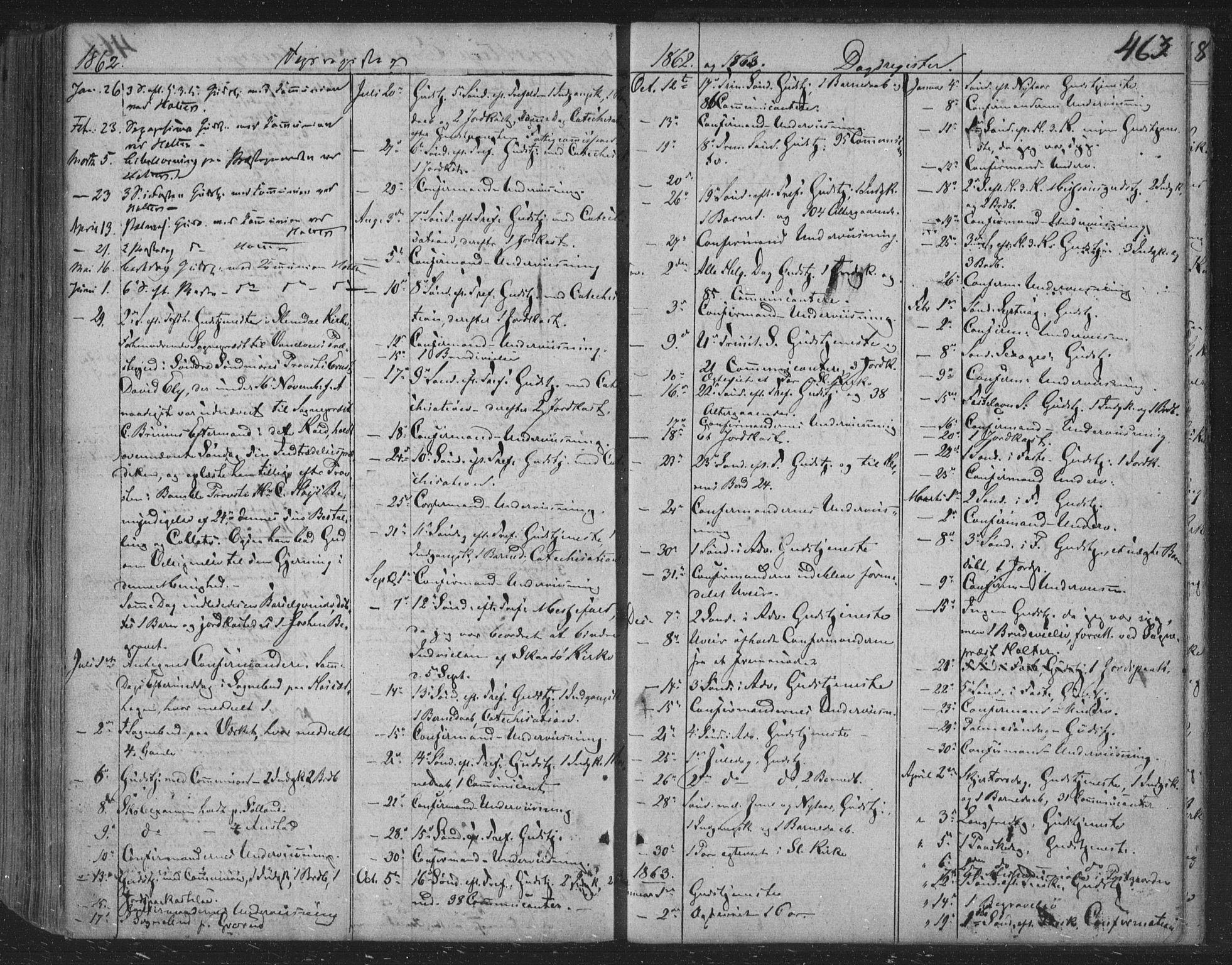 SAKO, Siljan kirkebøker, F/Fa/L0001: Ministerialbok nr. 1, 1831-1870, s. 463