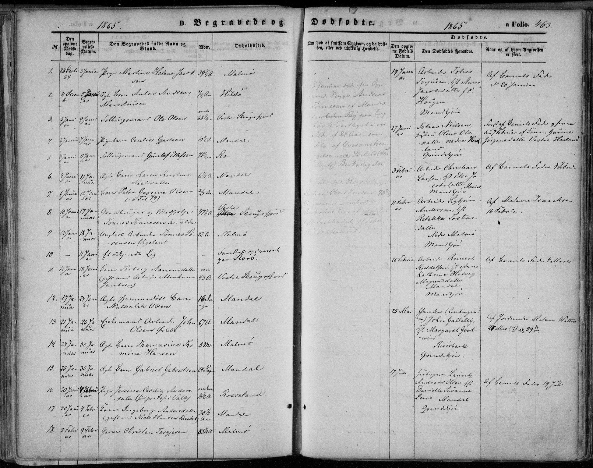 SAK, Mandal sokneprestkontor, F/Fa/Faa/L0014: Ministerialbok nr. A 14, 1859-1872, s. 463