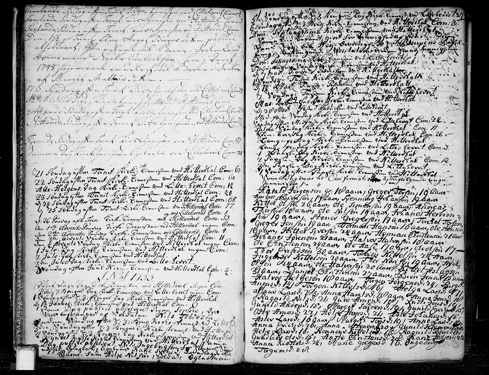 SAKO, Heddal kirkebøker, F/Fa/L0003: Ministerialbok nr. I 3, 1723-1783, s. 27