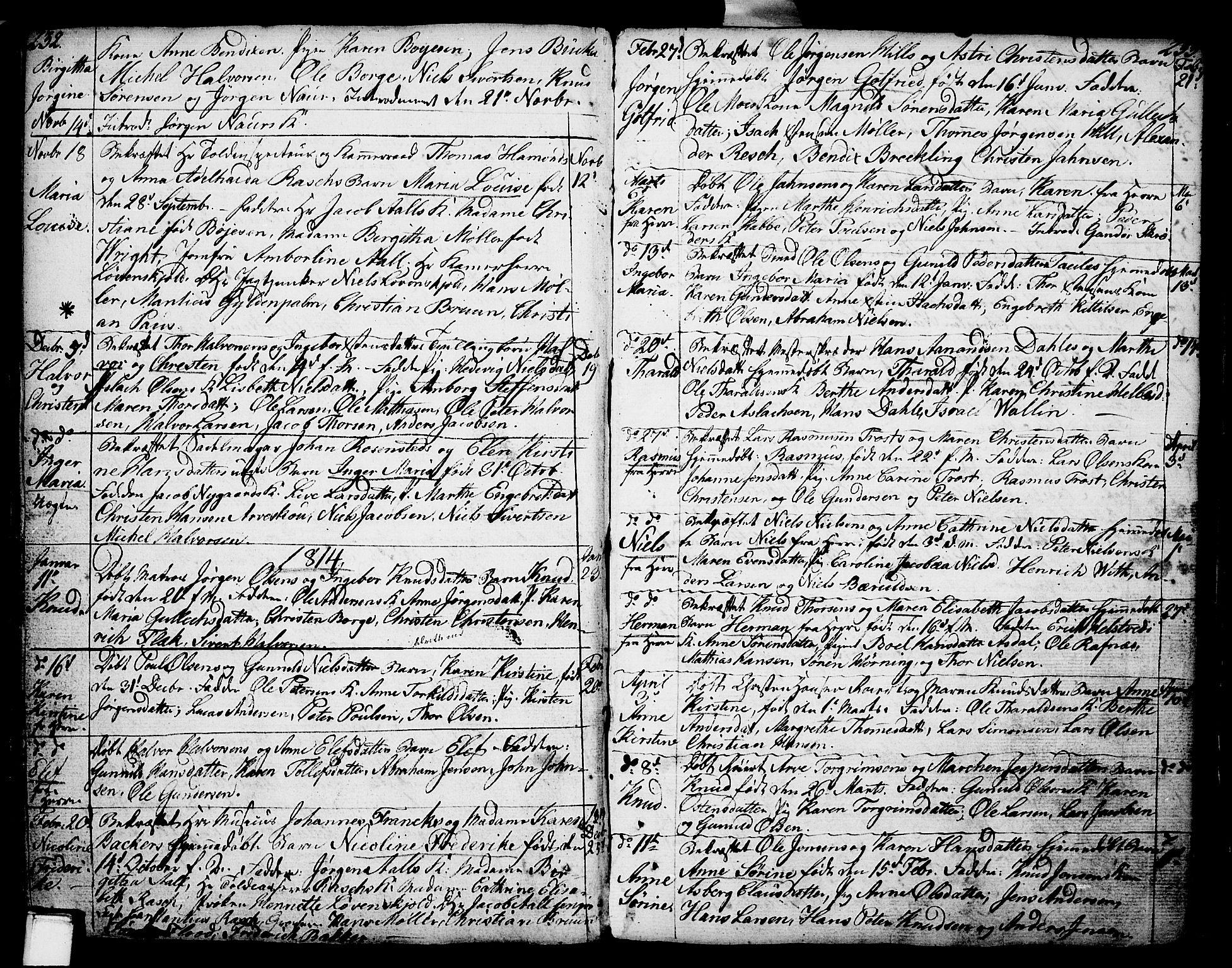 SAKO, Porsgrunn kirkebøker , F/Fa/L0002: Ministerialbok nr. 2, 1764-1814, s. 232-233