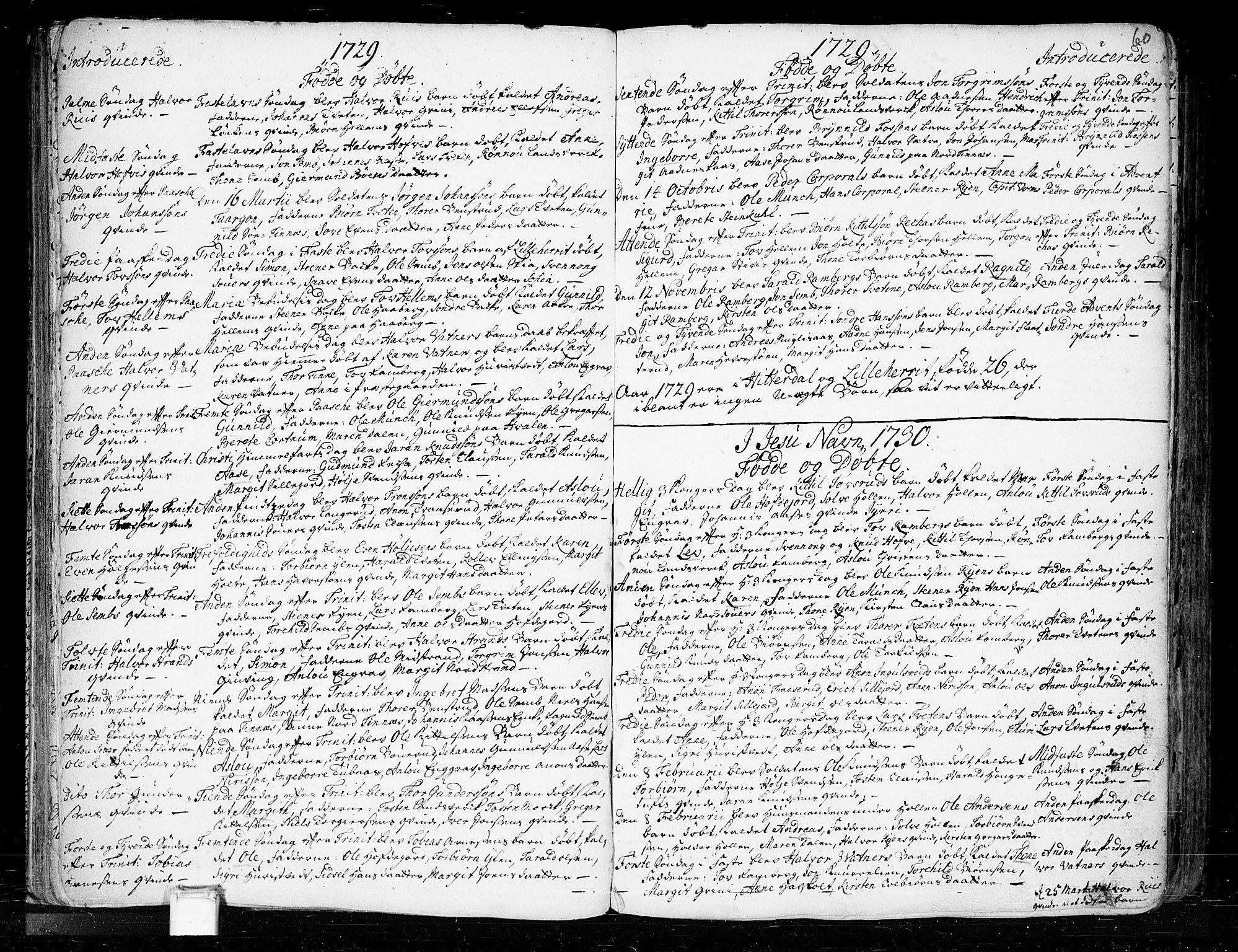 SAKO, Heddal kirkebøker, F/Fa/L0003: Ministerialbok nr. I 3, 1723-1783, s. 60