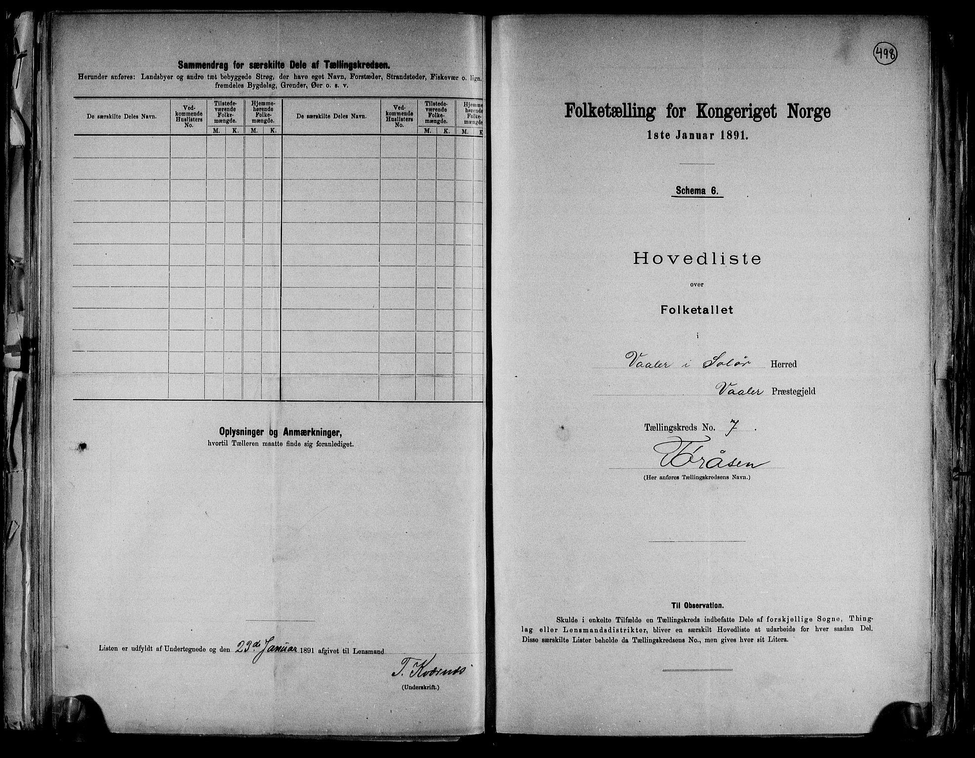 RA, Folketelling 1891 for 0426 Våler herred, 1891, s. 16