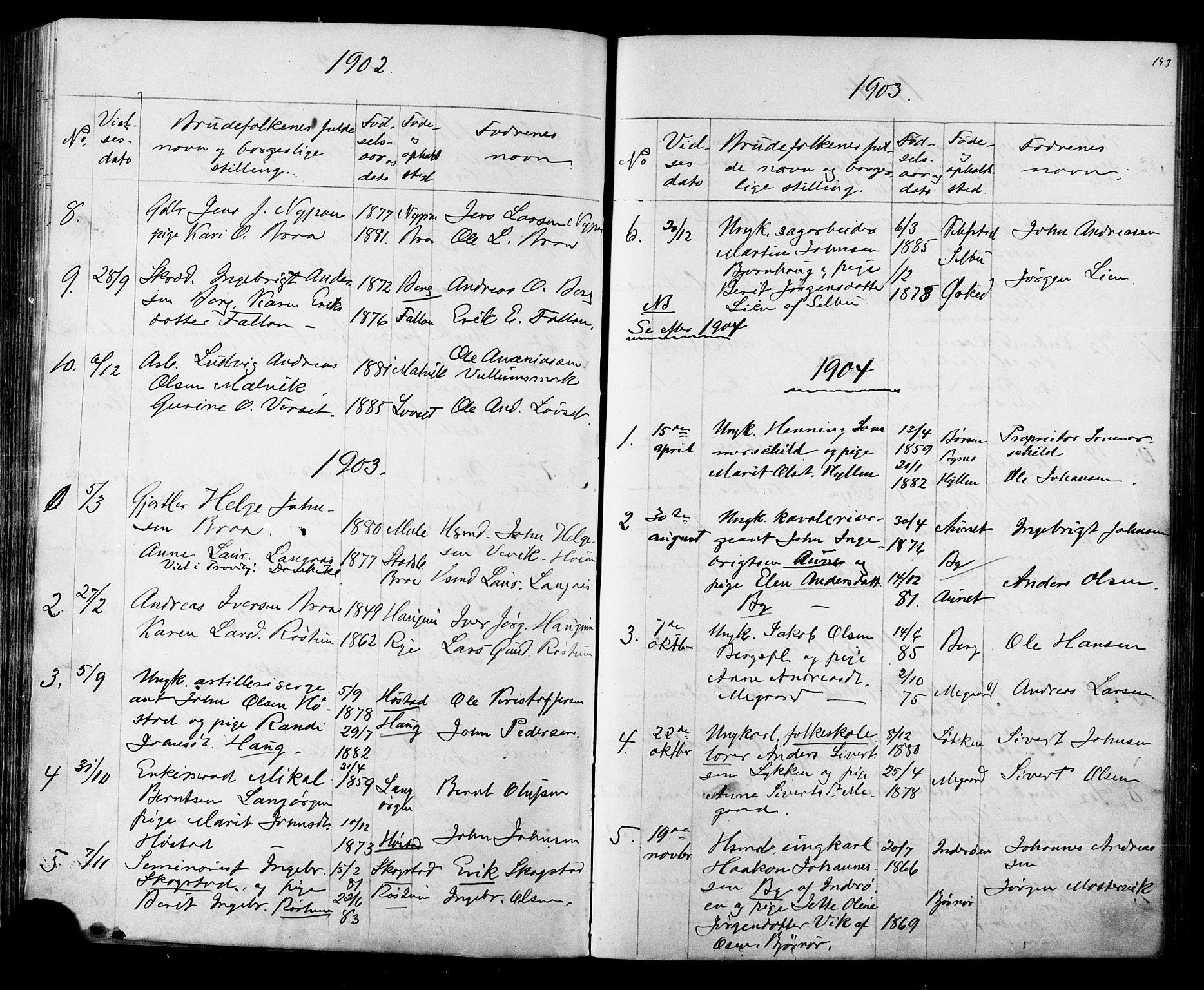 SAT, Ministerialprotokoller, klokkerbøker og fødselsregistre - Sør-Trøndelag, 612/L0387: Klokkerbok nr. 612C03, 1874-1908, s. 193