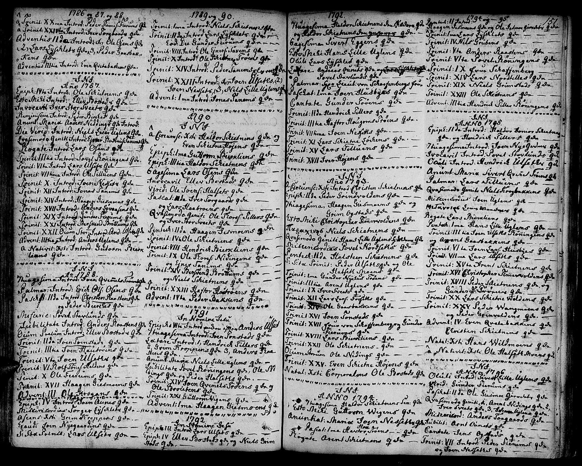 SAT, Ministerialprotokoller, klokkerbøker og fødselsregistre - Sør-Trøndelag, 618/L0438: Ministerialbok nr. 618A03, 1783-1815, s. 151
