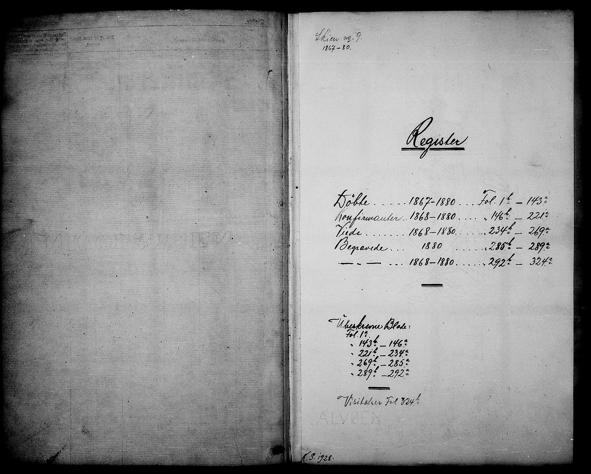 SAKO, Skien kirkebøker, G/Ga/L0005: Klokkerbok nr. 5, 1868-1880