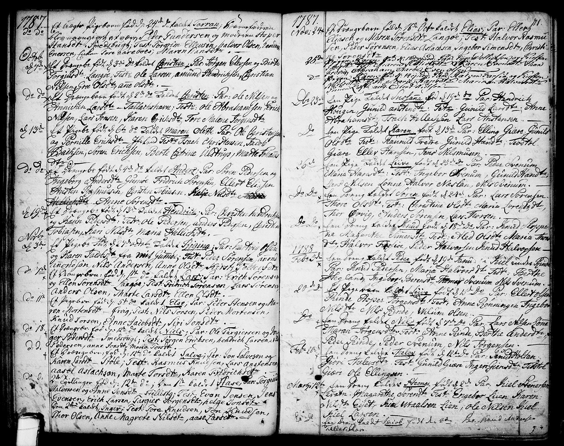 SAKO, Sannidal kirkebøker, F/Fa/L0002: Ministerialbok nr. 2, 1767-1802, s. 71