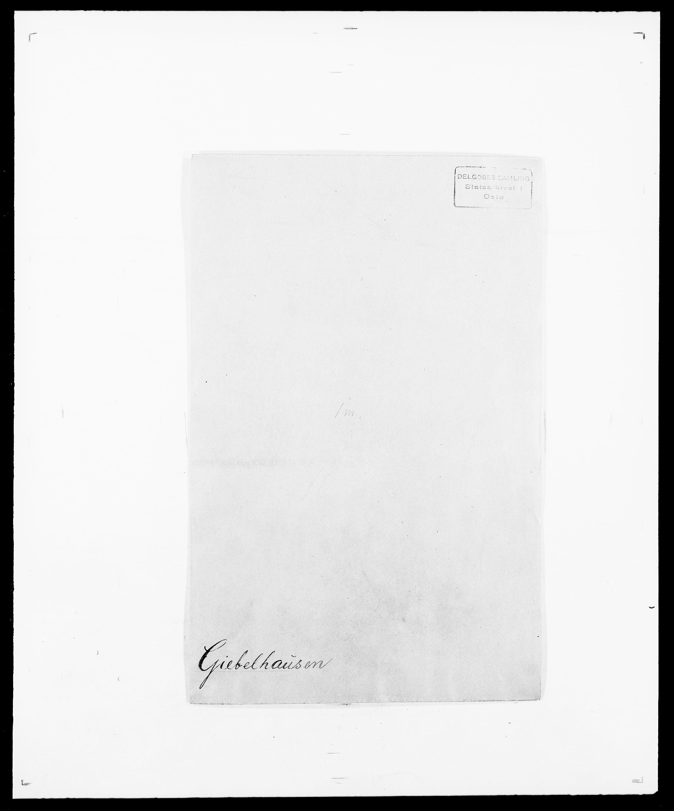 SAO, Delgobe, Charles Antoine - samling, D/Da/L0014: Giebdhausen - Grip, s. 1
