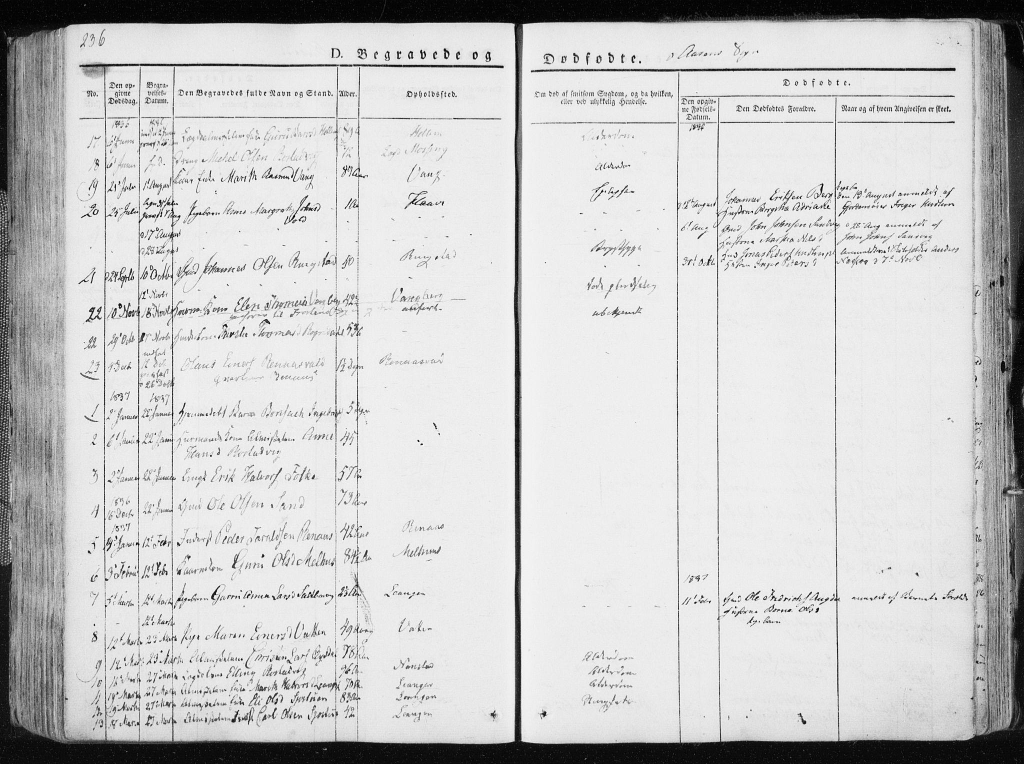 SAT, Ministerialprotokoller, klokkerbøker og fødselsregistre - Nord-Trøndelag, 713/L0114: Ministerialbok nr. 713A05, 1827-1839, s. 236