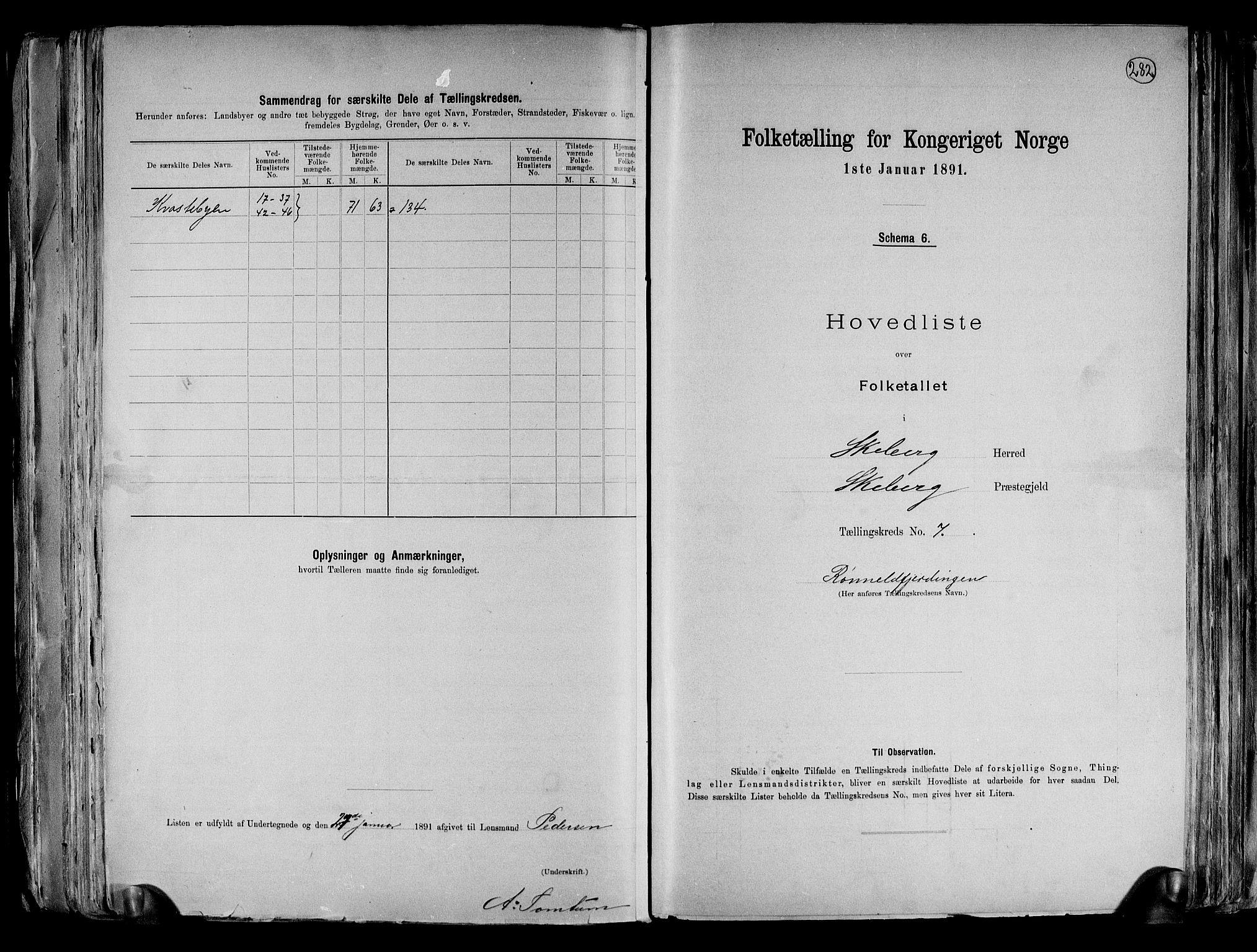 RA, Folketelling 1891 for 0115 Skjeberg herred, 1891, s. 19