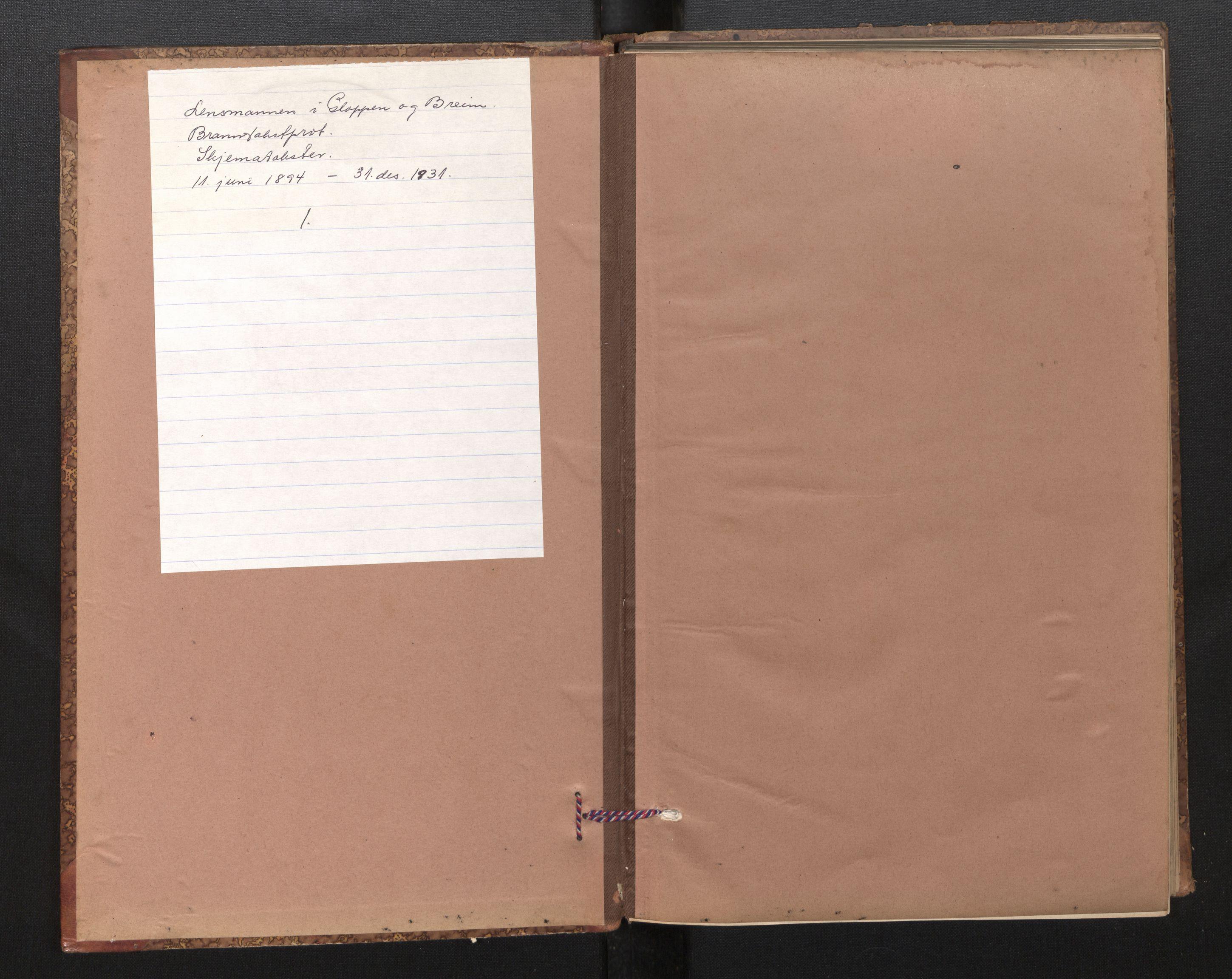 SAB, Lensmannen i Gloppen og Breim, 0012/L0003: Branntakstprotokoll, skjematakst, 1894-1931