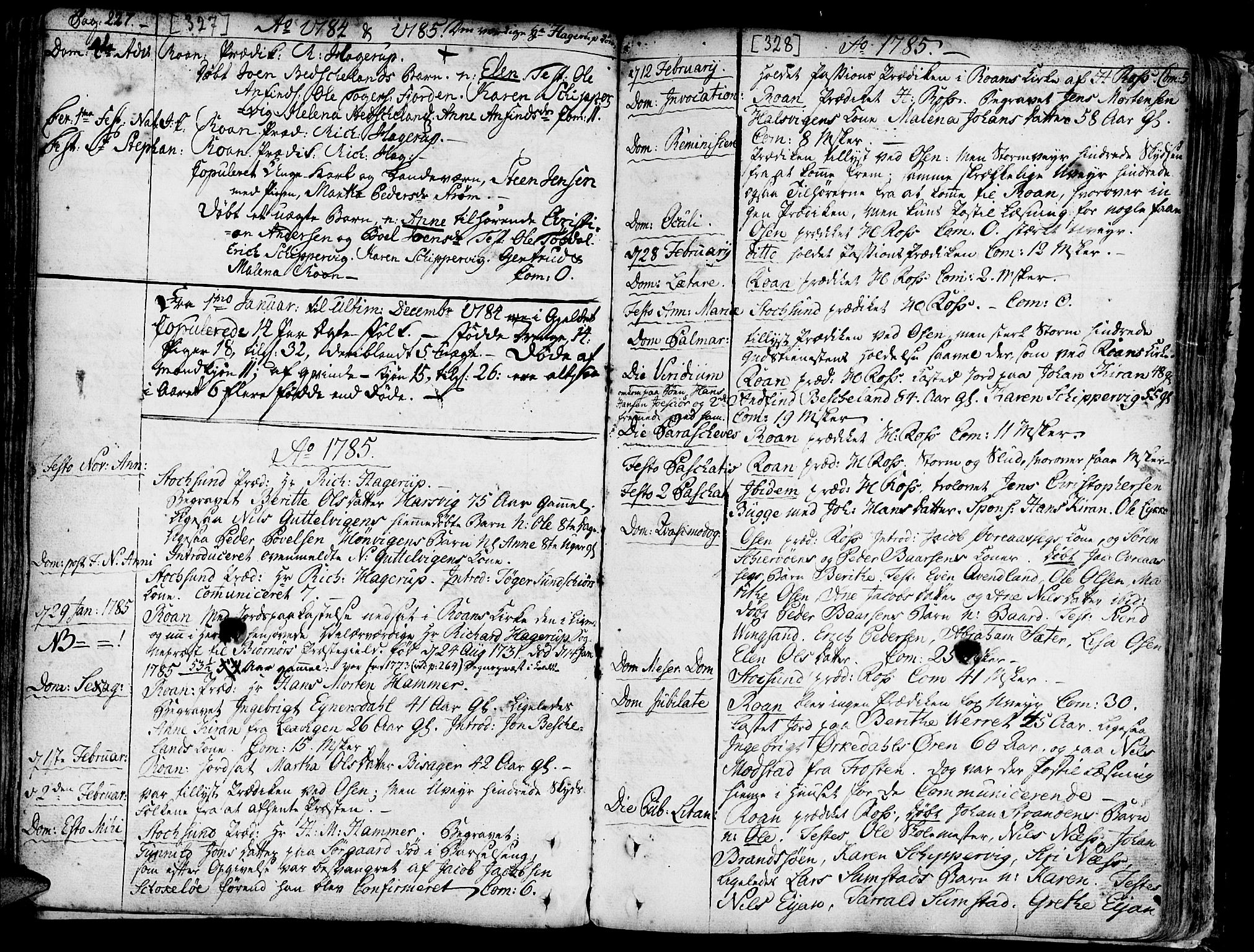 SAT, Ministerialprotokoller, klokkerbøker og fødselsregistre - Sør-Trøndelag, 657/L0700: Ministerialbok nr. 657A01, 1732-1801, s. 327-328