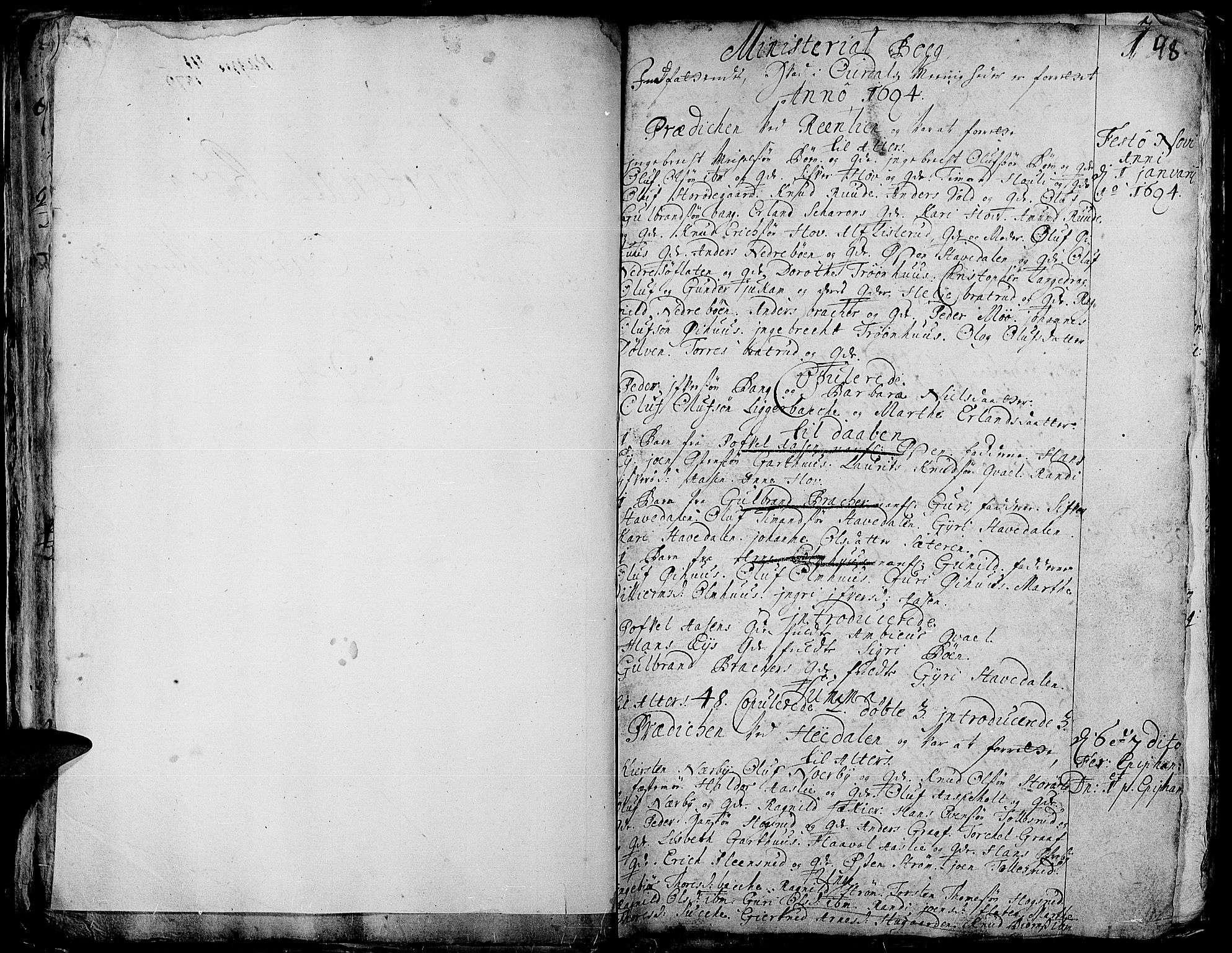 SAH, Aurdal prestekontor, Ministerialbok nr. 1-3, 1692-1730, s. 48