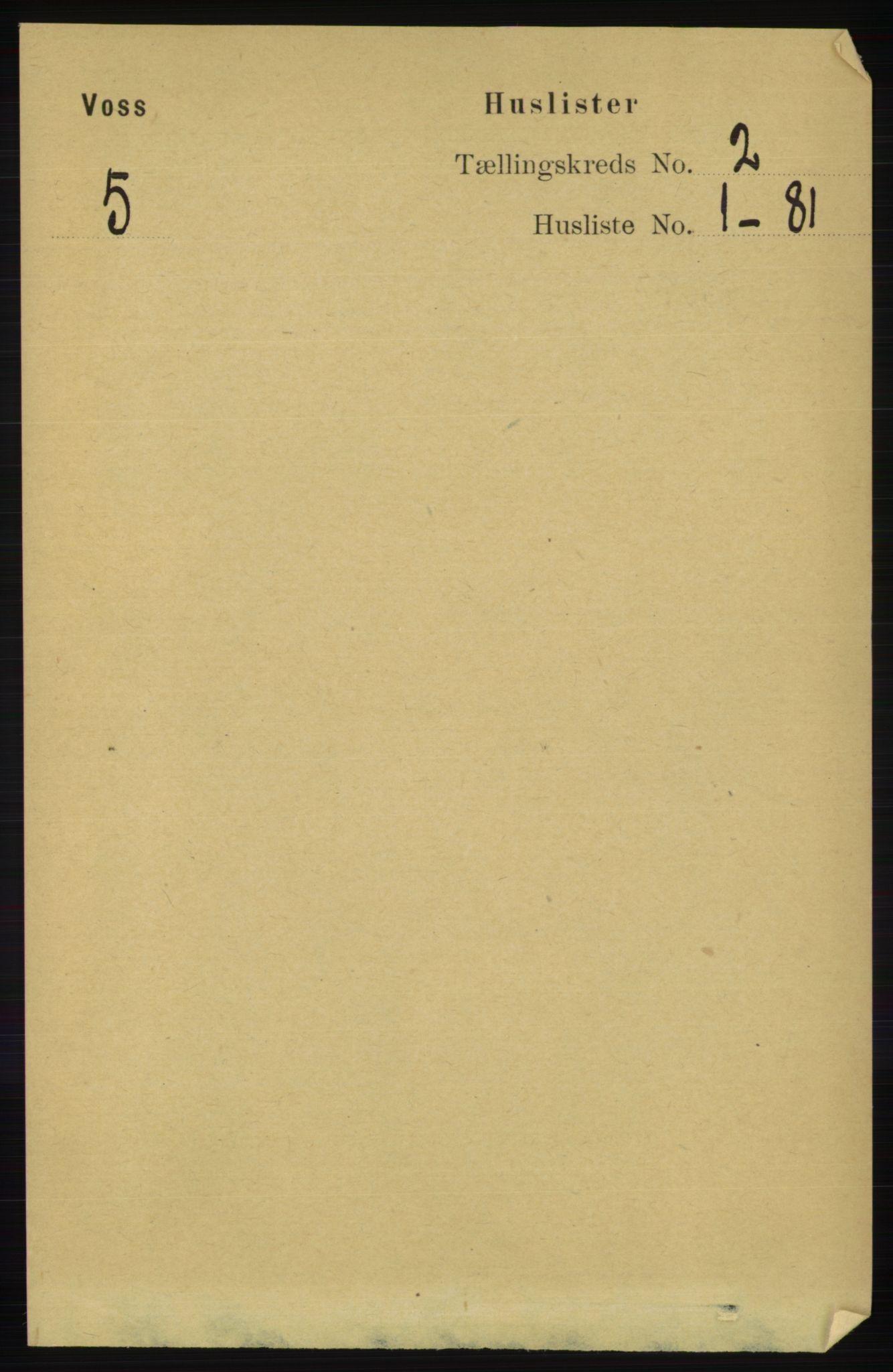 RA, Folketelling 1891 for 1235 Voss herred, 1891, s. 542