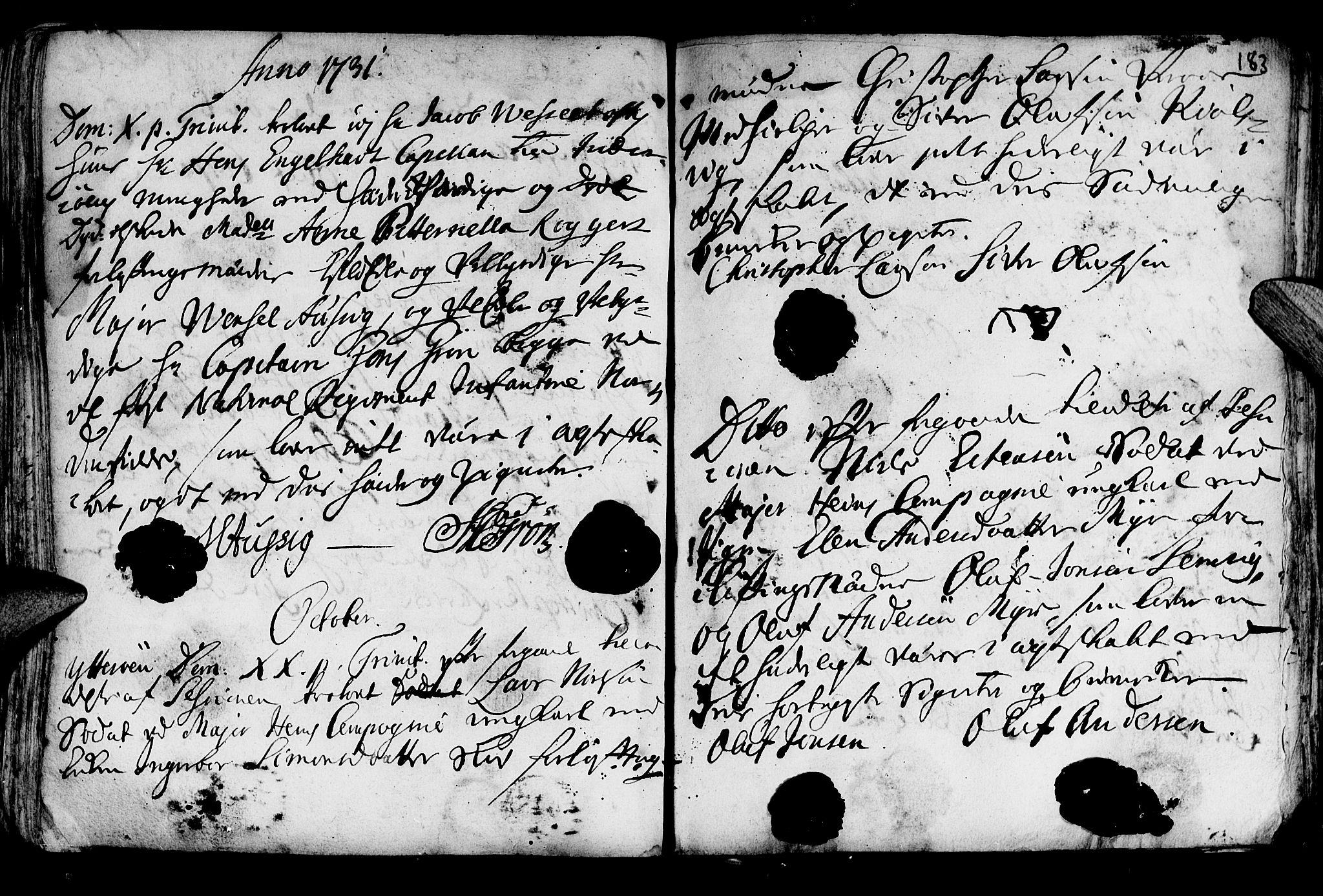 SAT, Ministerialprotokoller, klokkerbøker og fødselsregistre - Nord-Trøndelag, 722/L0215: Ministerialbok nr. 722A02, 1718-1755, s. 183