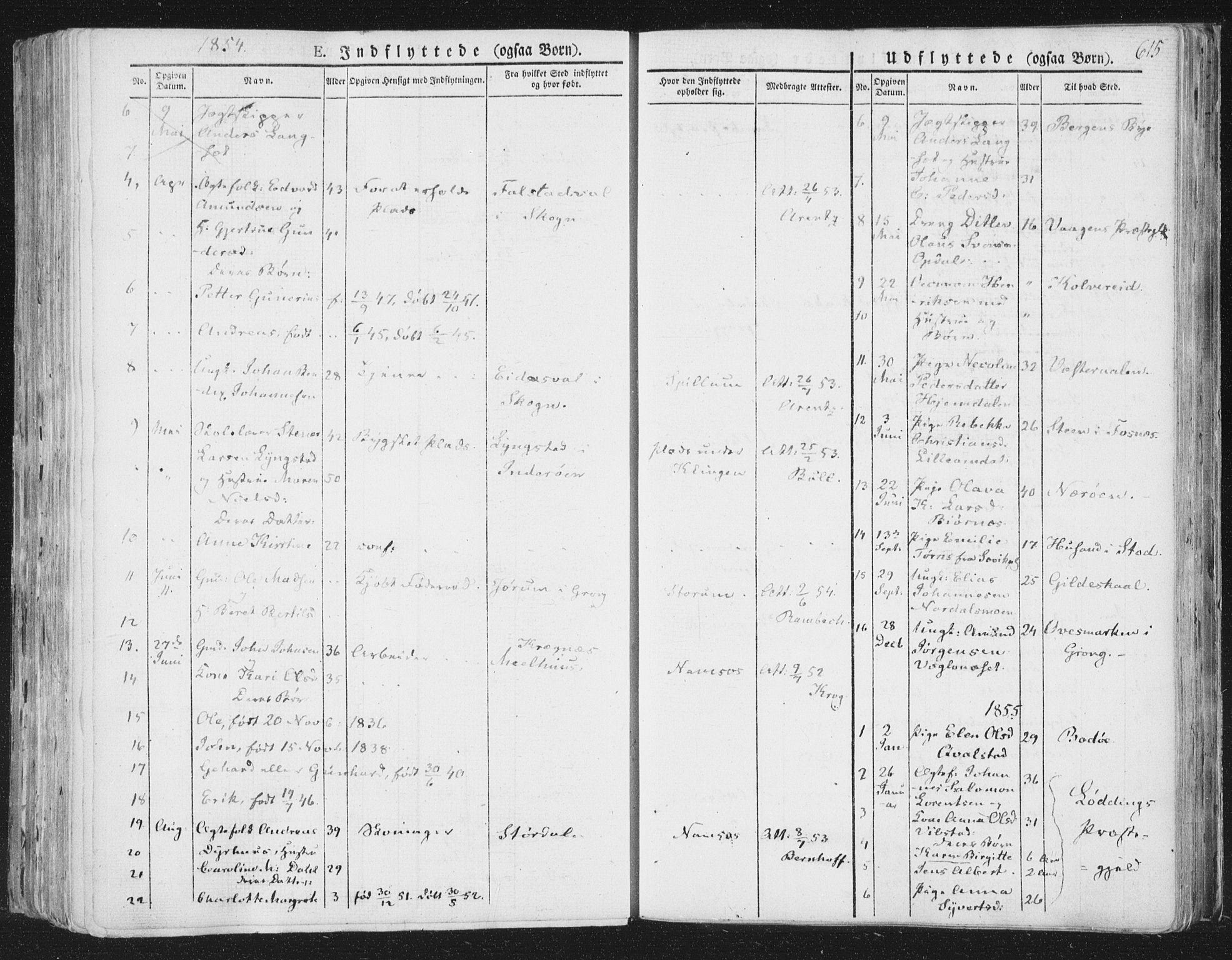 SAT, Ministerialprotokoller, klokkerbøker og fødselsregistre - Nord-Trøndelag, 764/L0552: Ministerialbok nr. 764A07b, 1824-1865, s. 615